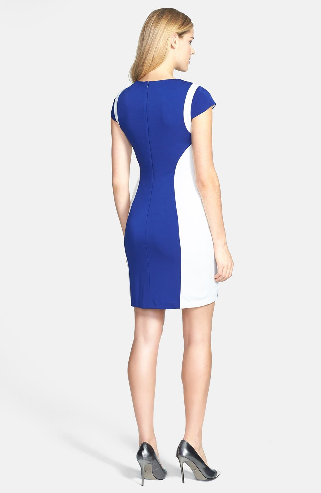 Alternate Image 3  - Ivy & Blu Colorblock Body-Con Dress