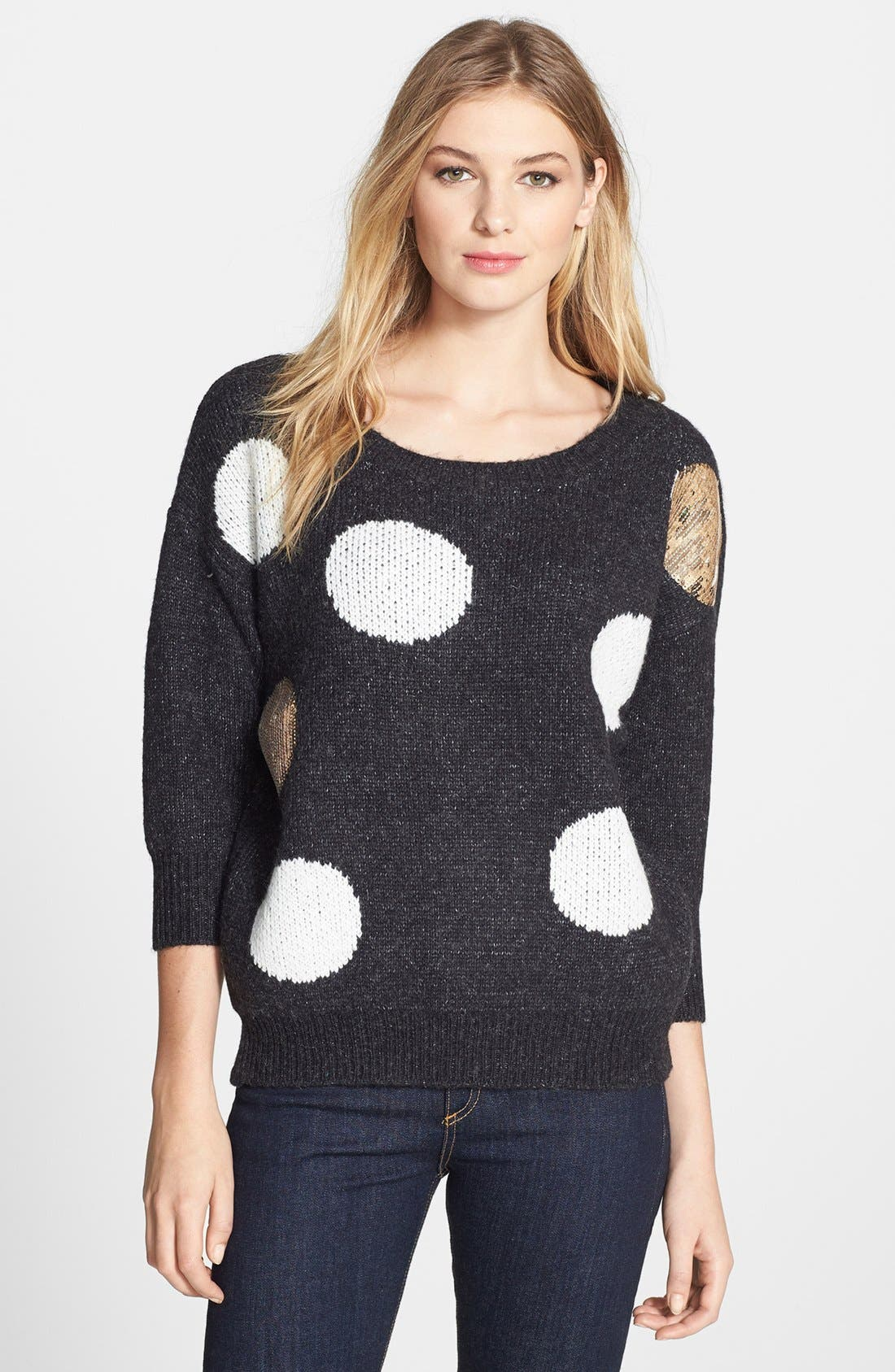 Main Image - Press Dot Sequin Sweater