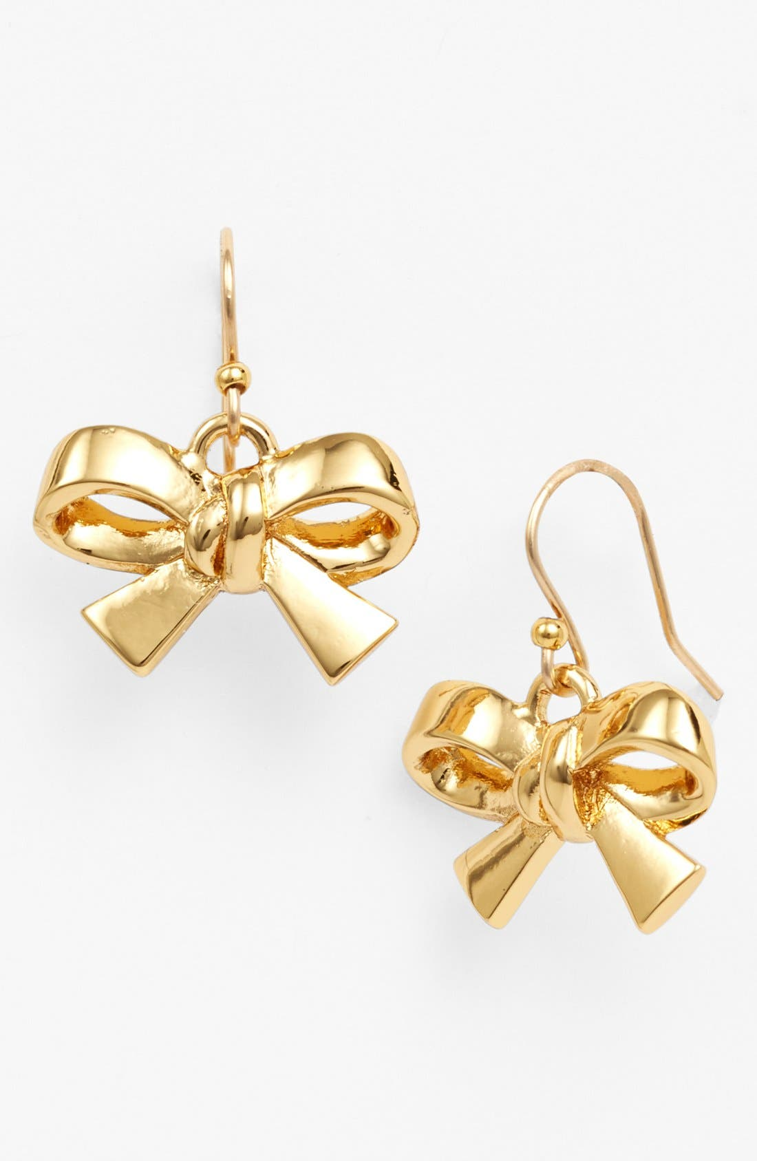 Alternate Image 1 Selected - kate spade new york 'finishing touch' bow drop earrings