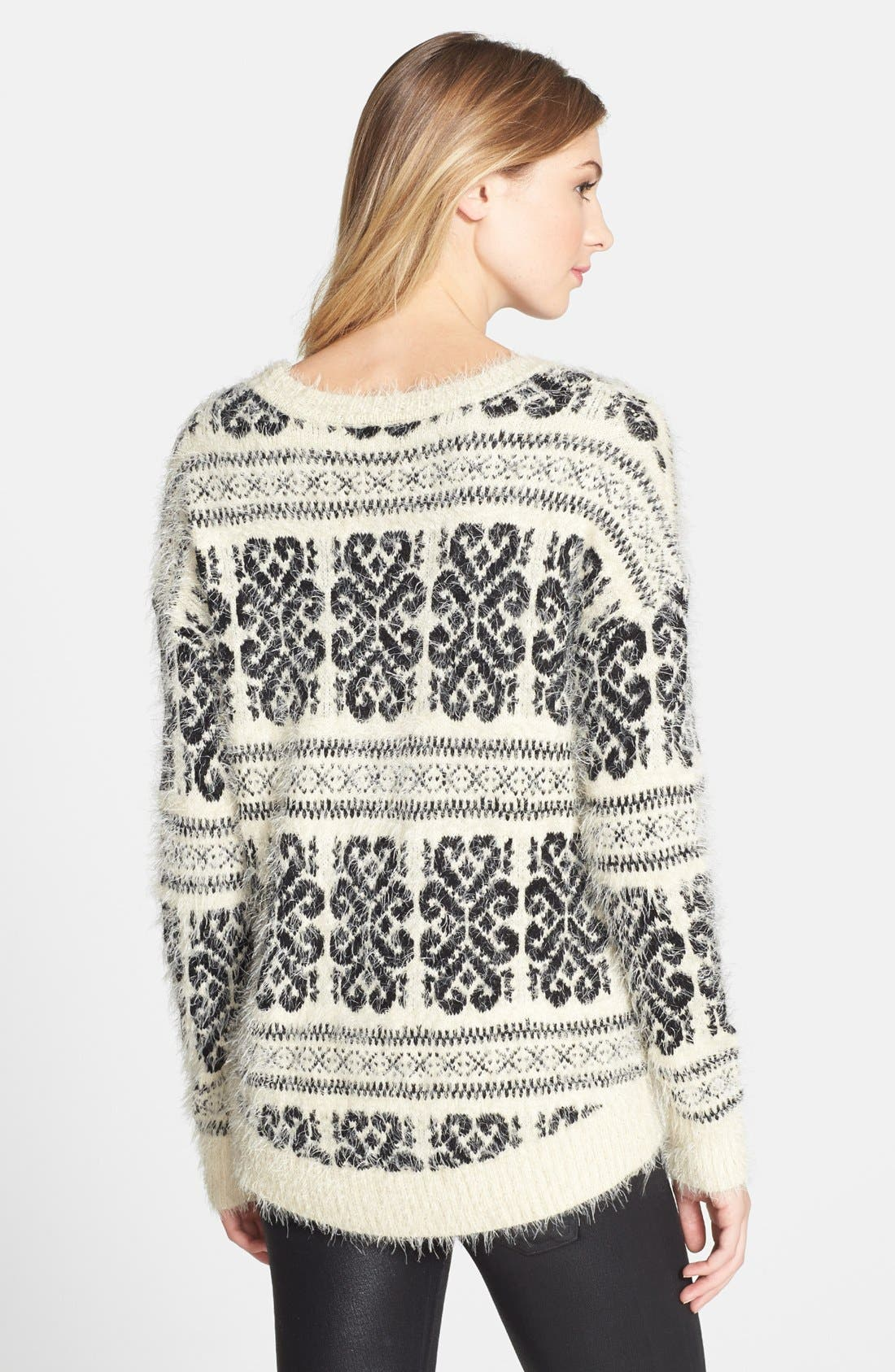 Alternate Image 2  - Dex Patterned Fuzzy High/Low Sweater
