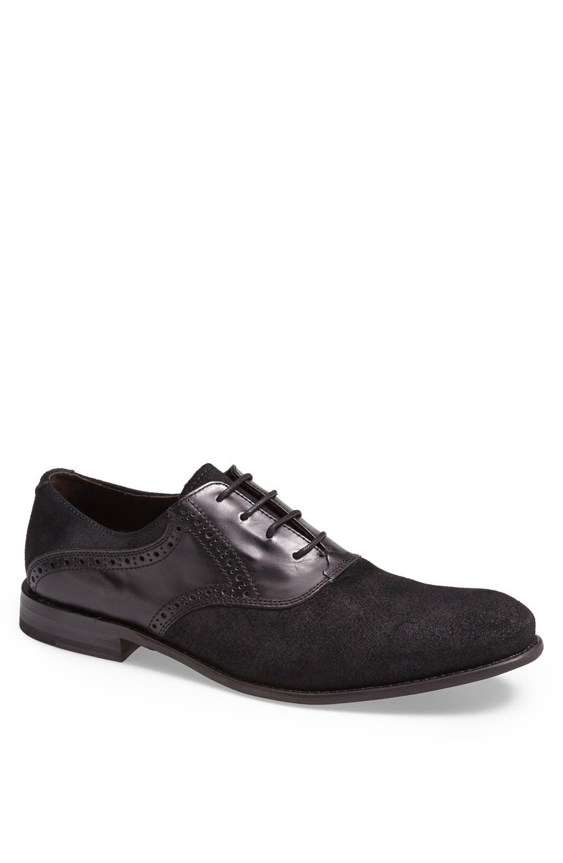 Alternate Image 1 Selected - John Varvatos Star USA 'Sid Buck' Laceless Saddle Shoe