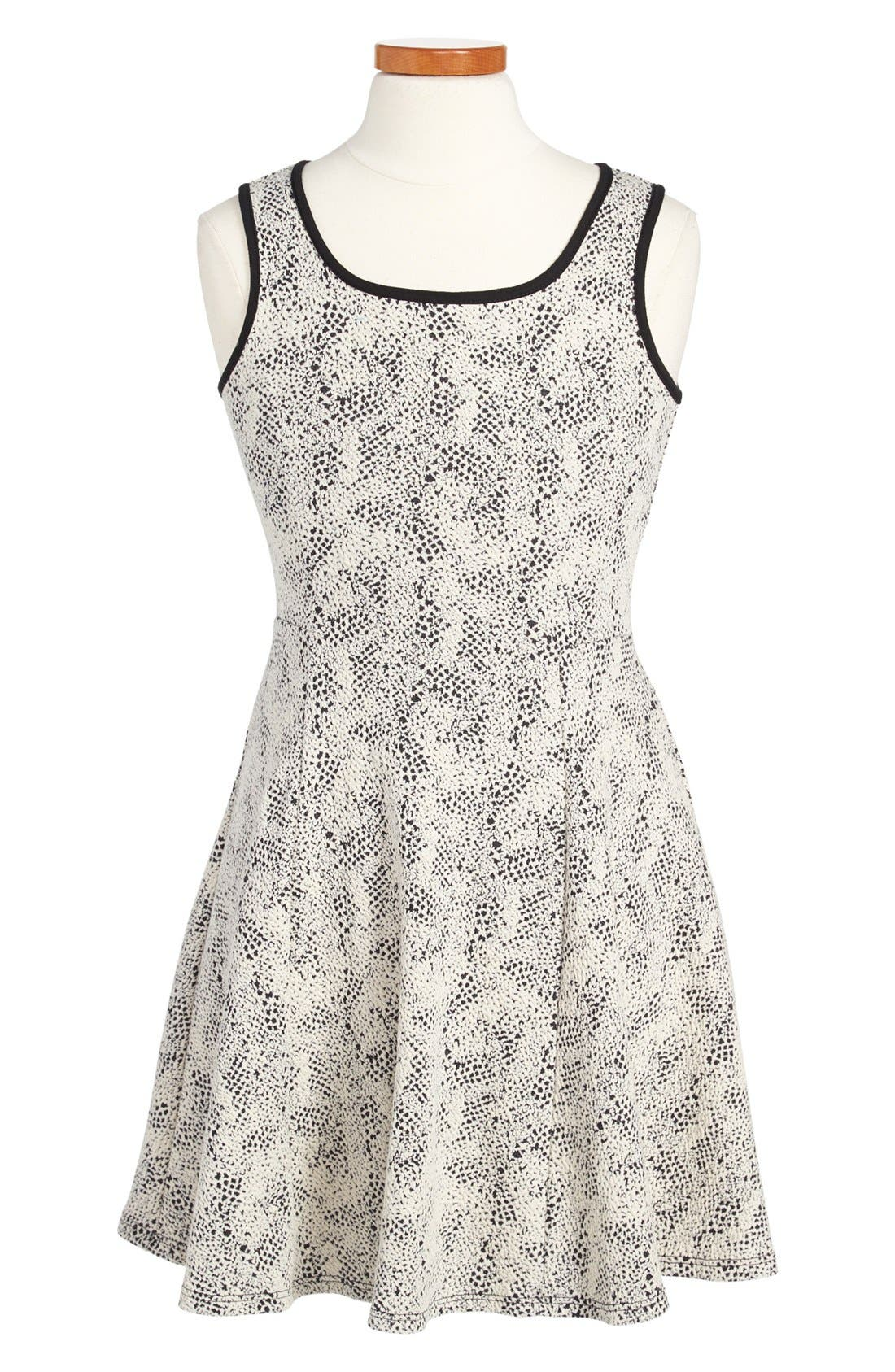 Alternate Image 1 Selected - Soprano Sleeveless Knit Skater Dress (Little Girls & Big Girls)