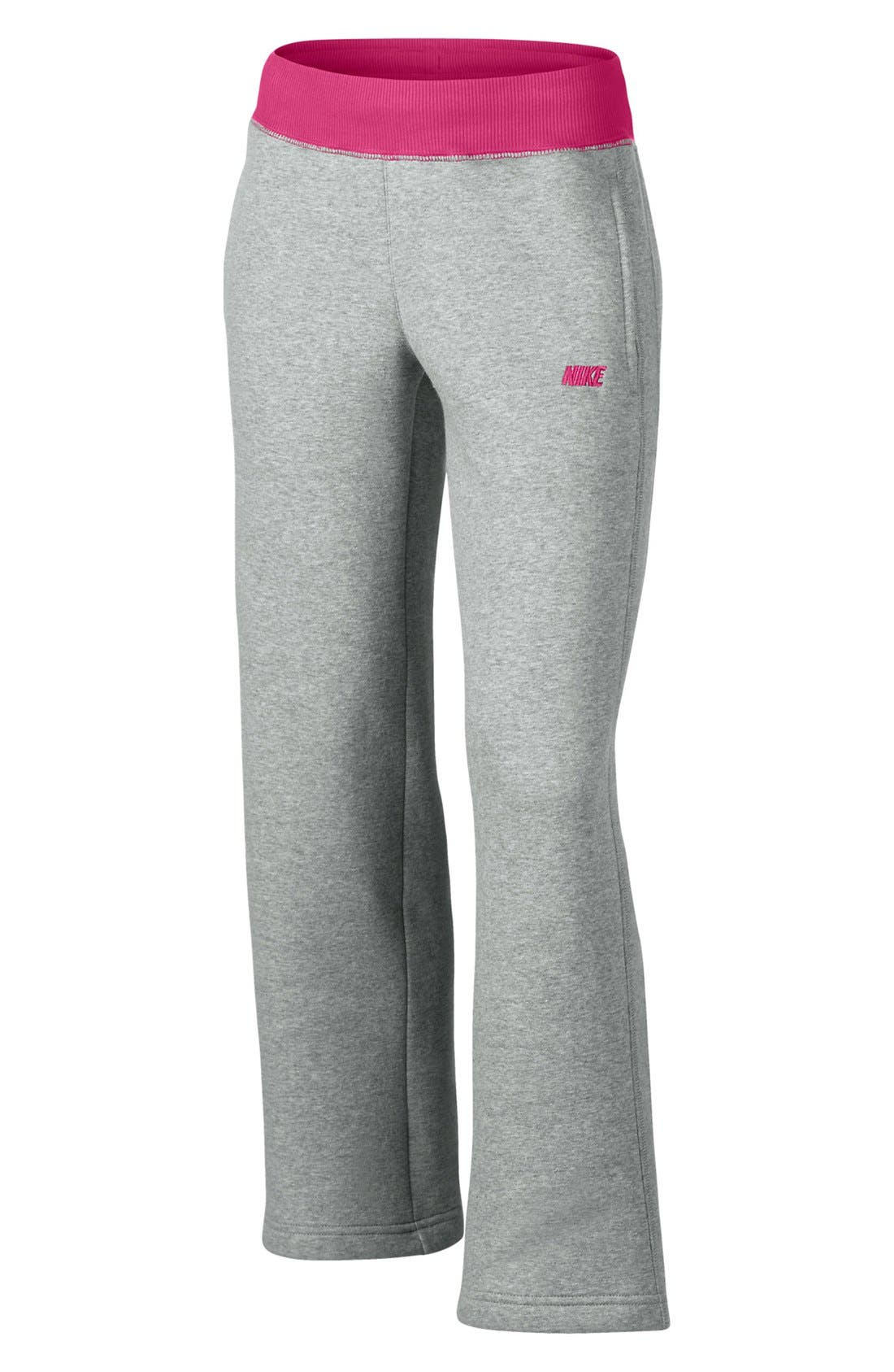Alternate Image 1 Selected - Nike 'N40' Fleece Pants (Little Girls & Big Girls)