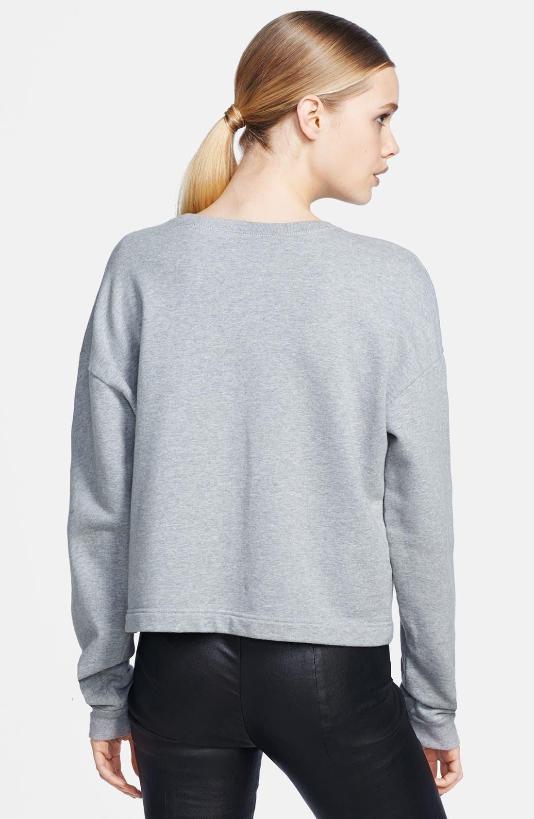 Alternate Image 2  - McQ by Alexander McQueen Embroidered Sweatshirt