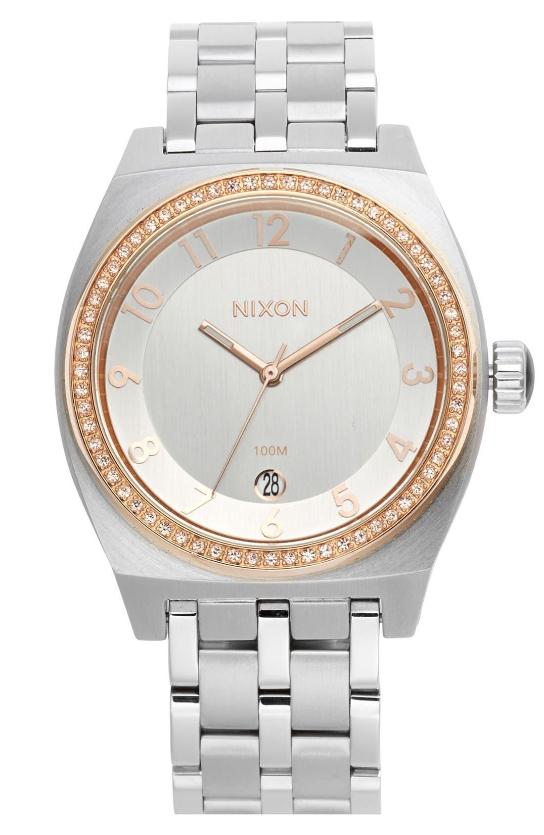 Alternate Image 1 Selected - Nixon 'The Crystal Monopoly' Bracelet Watch, 40mm