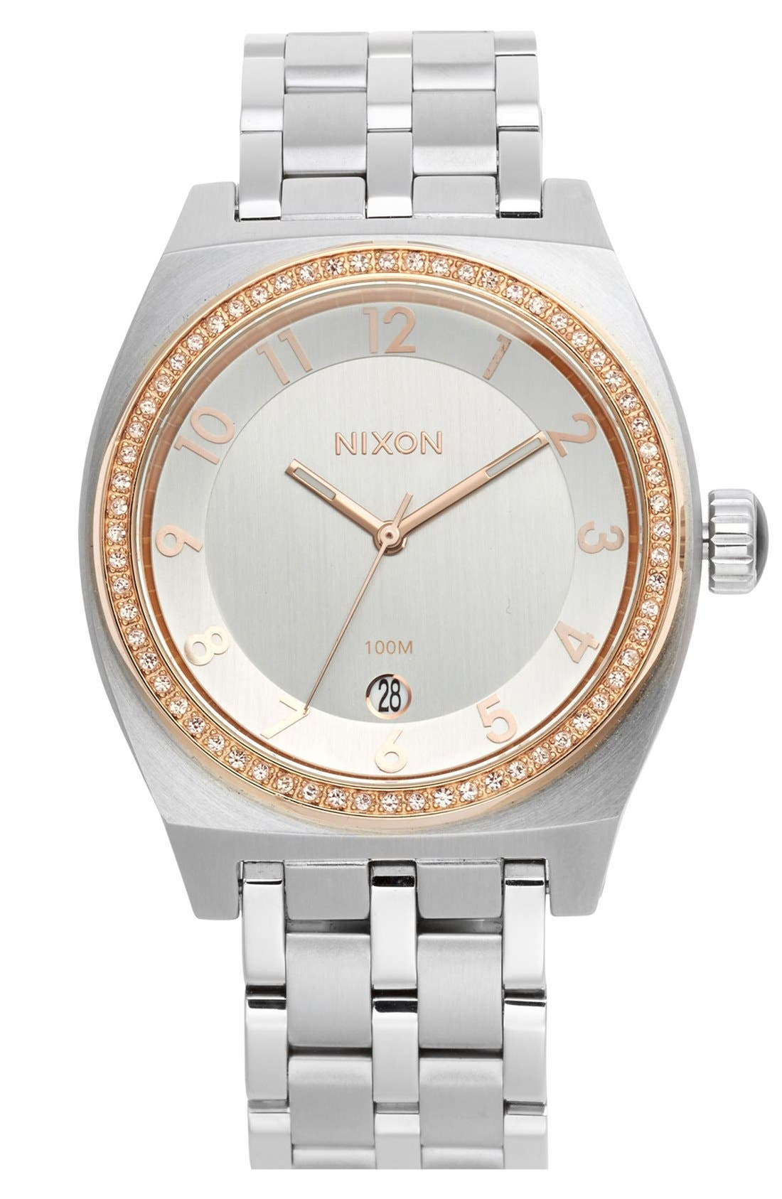 Main Image - Nixon 'The Crystal Monopoly' Bracelet Watch, 40mm