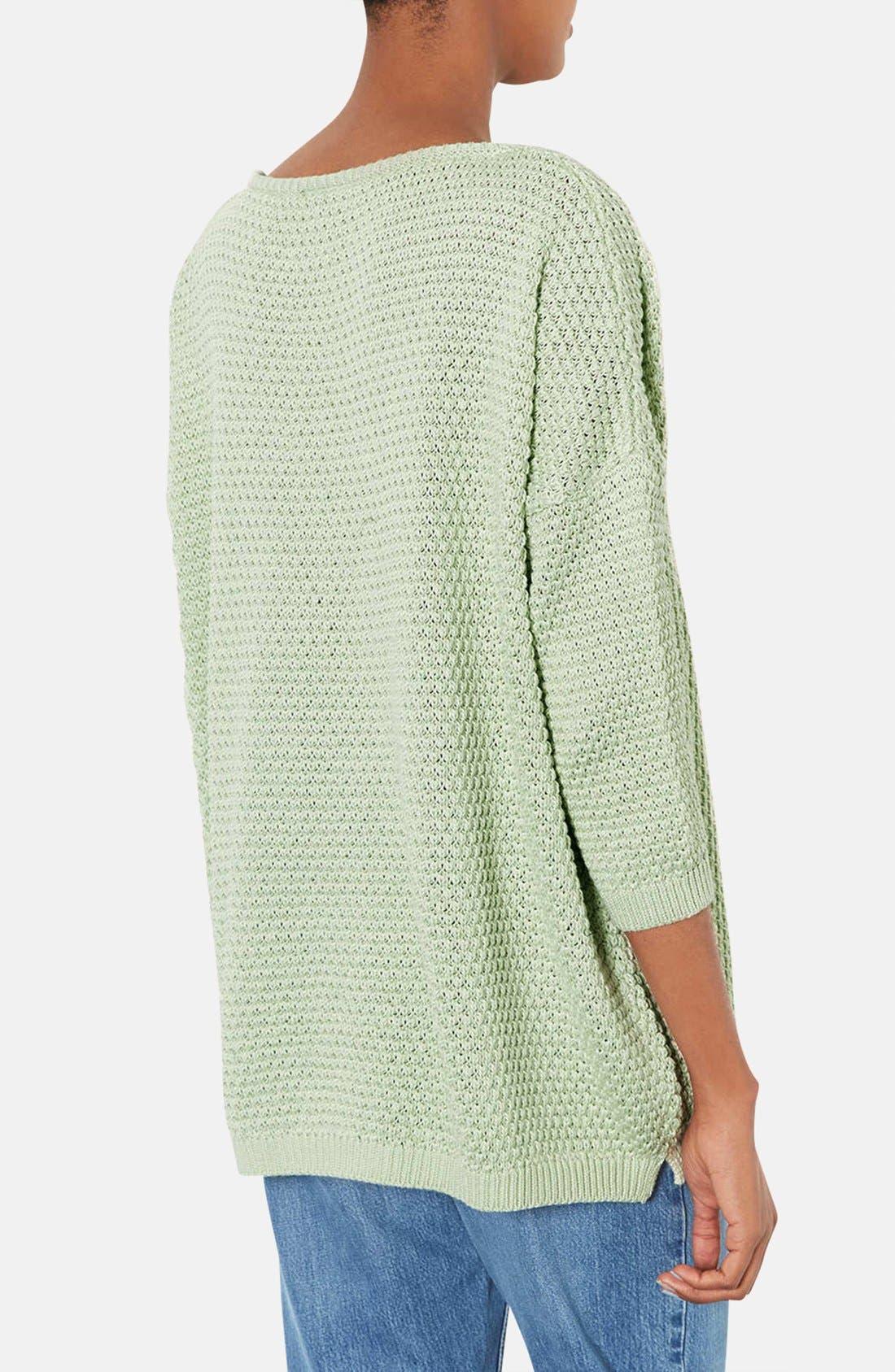 Alternate Image 2  - Topshop Tulip Stitch Sweater