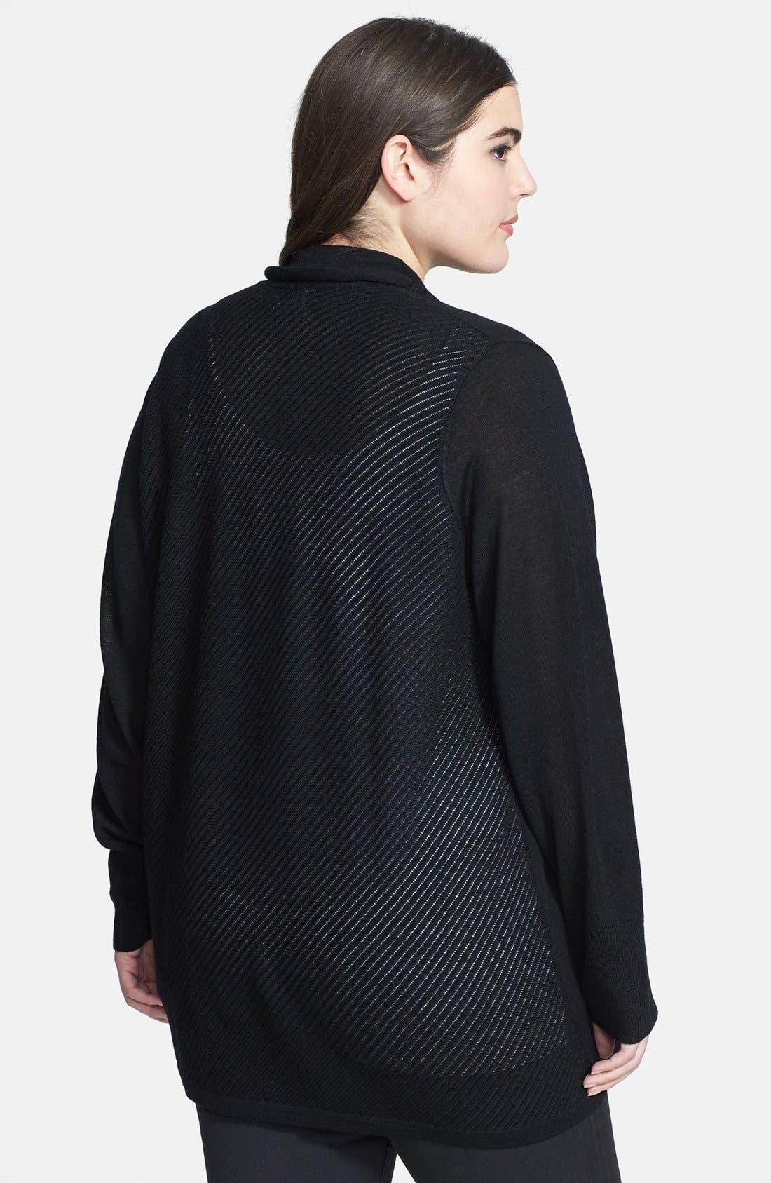 Alternate Image 2  - Sejour Wool Cardigan (Plus Size)