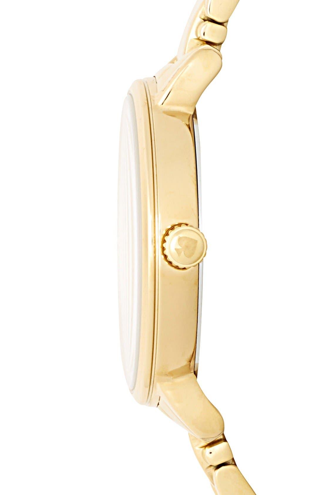 Alternate Image 3  - kate spade new york 'gramercy' crystal marker watch, 34mm
