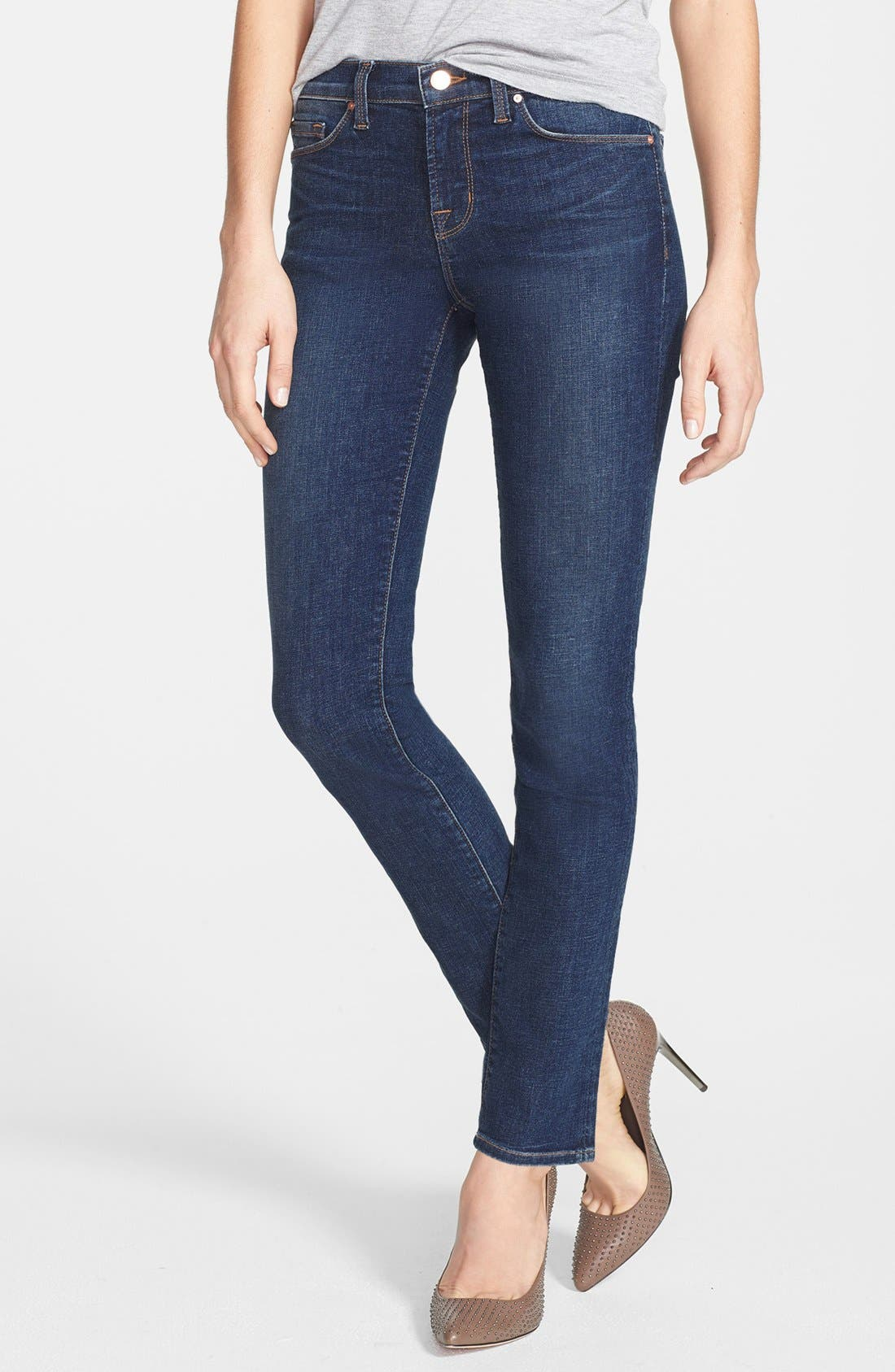 Alternate Image 1 Selected - J Brand Mid Rise Skinny Jeans (Waltz)