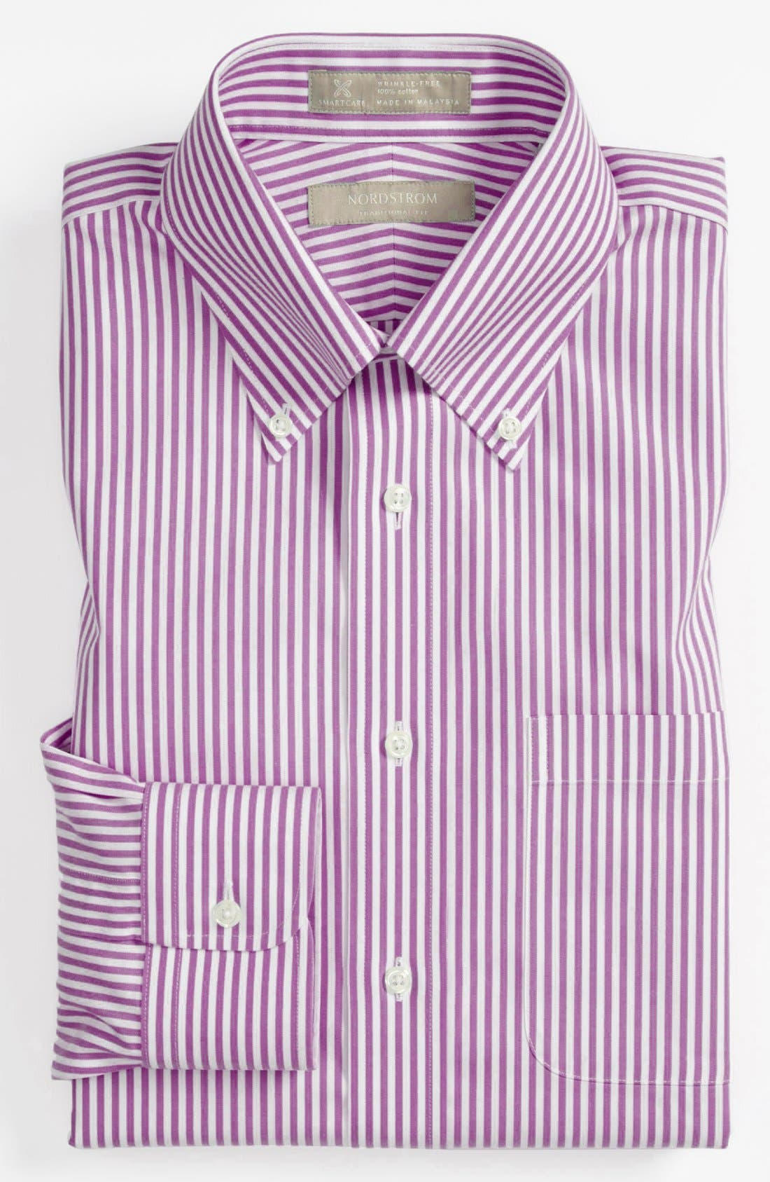 Alternate Image 1 Selected - Nordstrom Men's Shop Smartcare™ Traditional Fit Stripe Dress Shirt