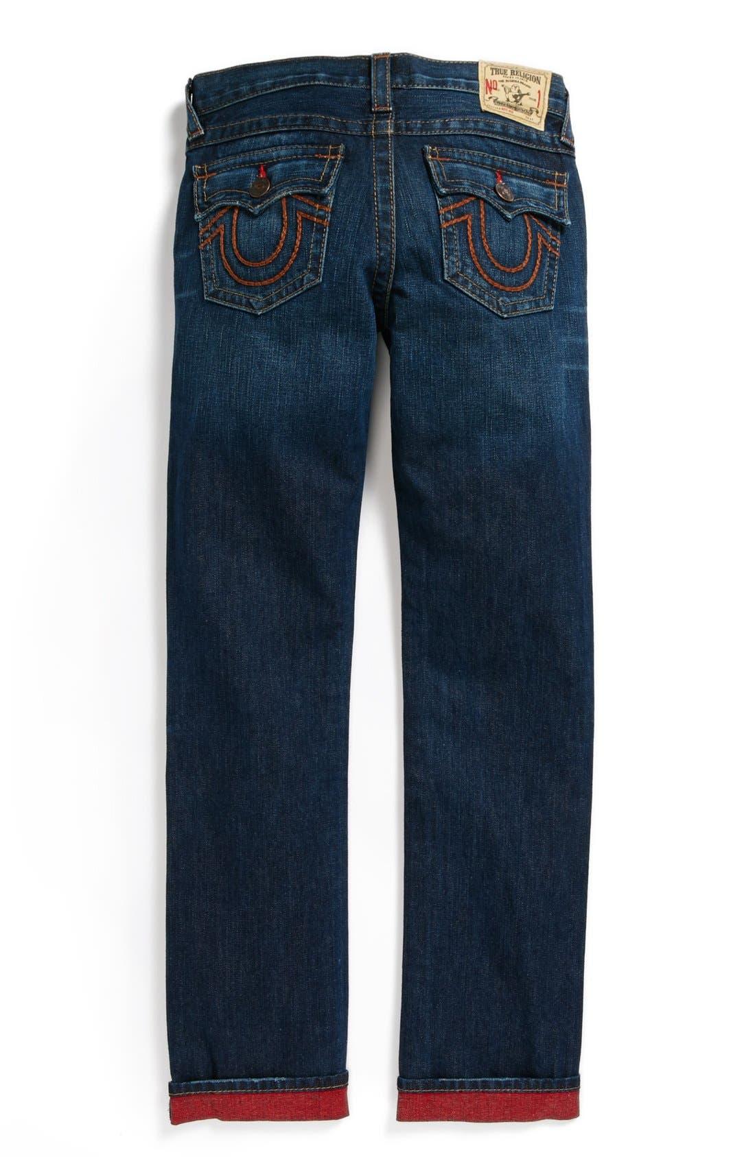 Main Image - True Religion Brand Jeans 'Jack' Reverse Dye Slim Leg Jeans (Little Boys & Big Boys)
