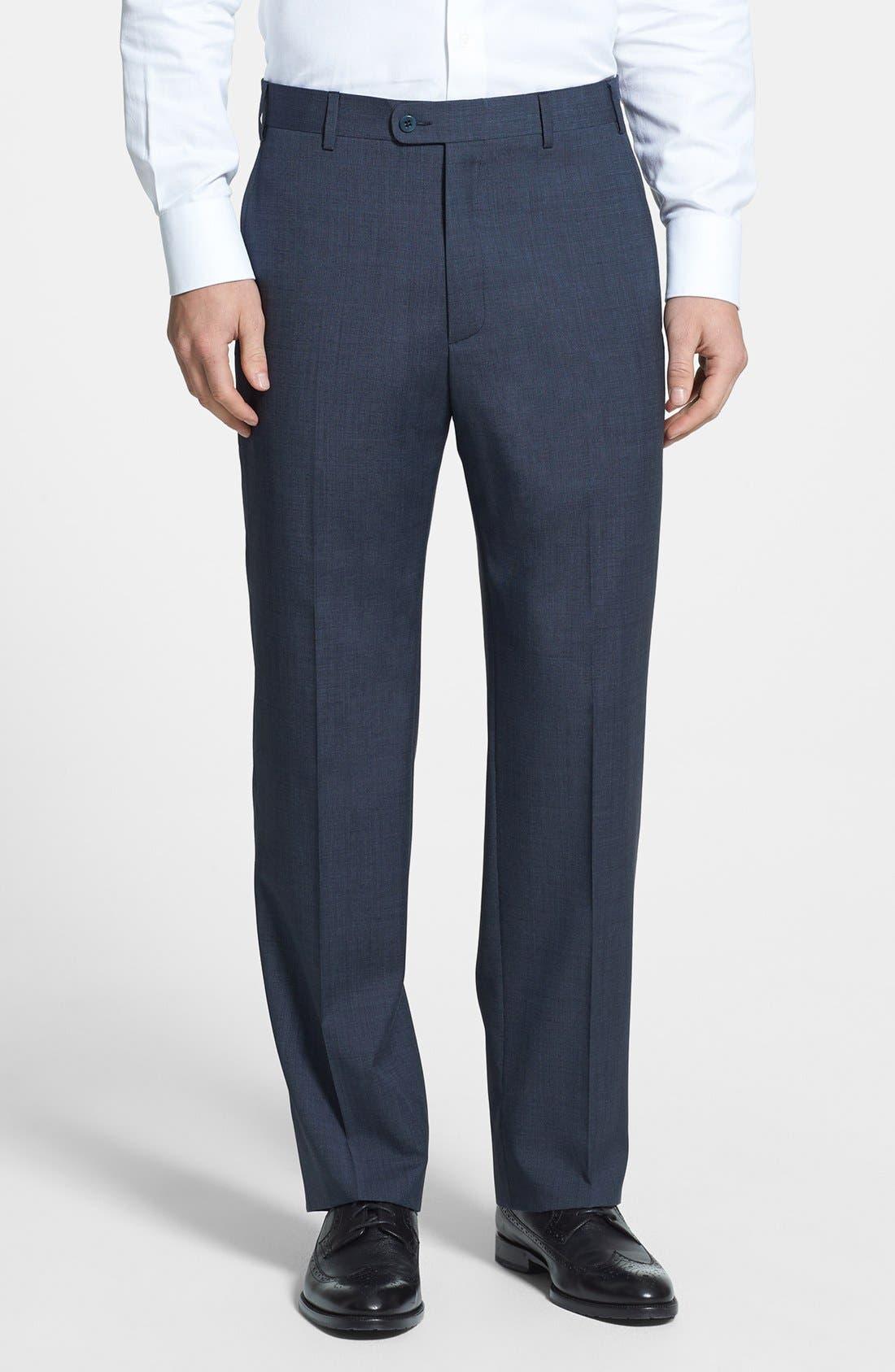 Main Image - Zanella 'Todd' Flat Front Wool Trousers