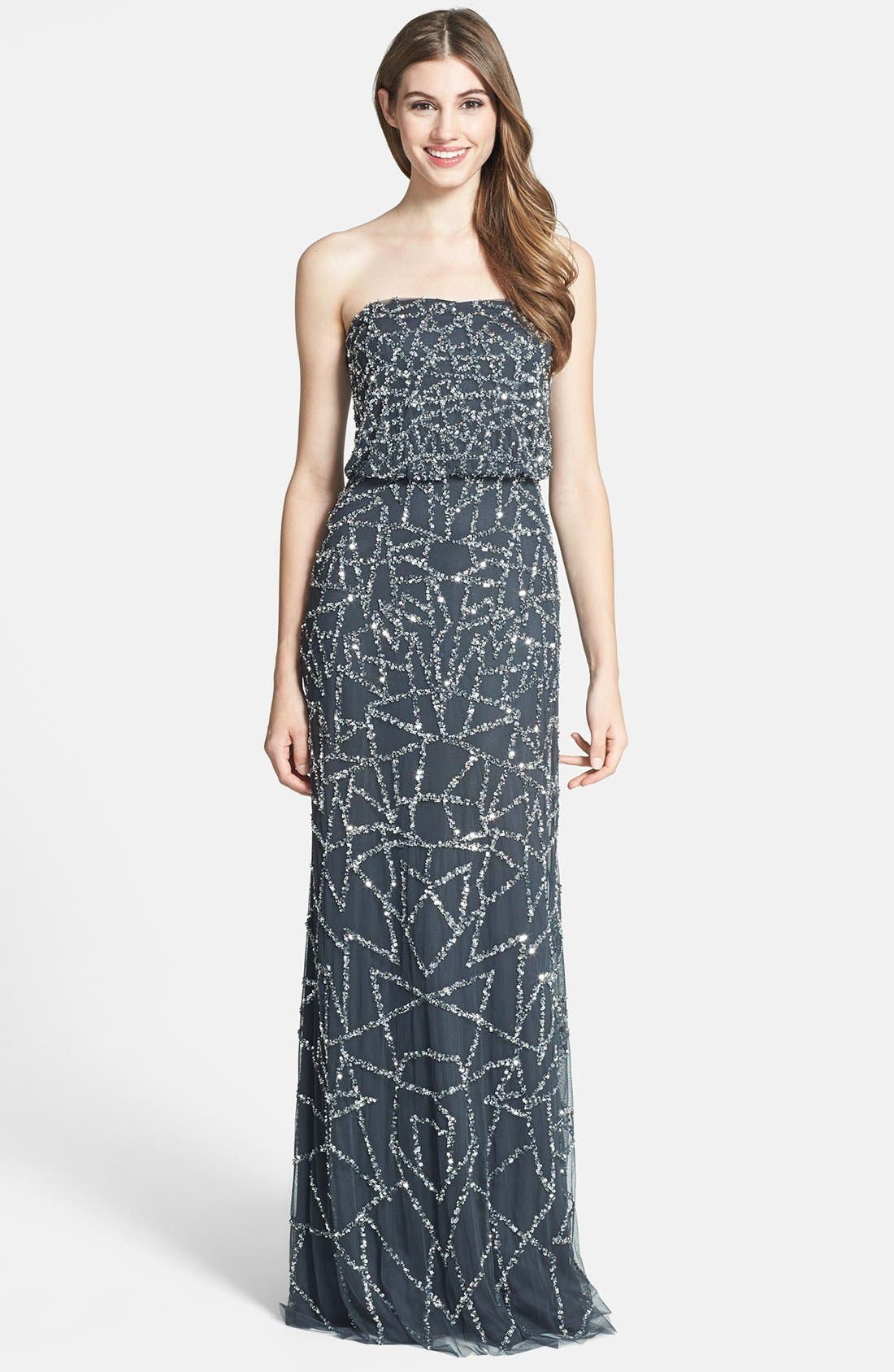 Alternate Image 1 Selected - Adrianna Papell Embellished Strapless Blouson Gown