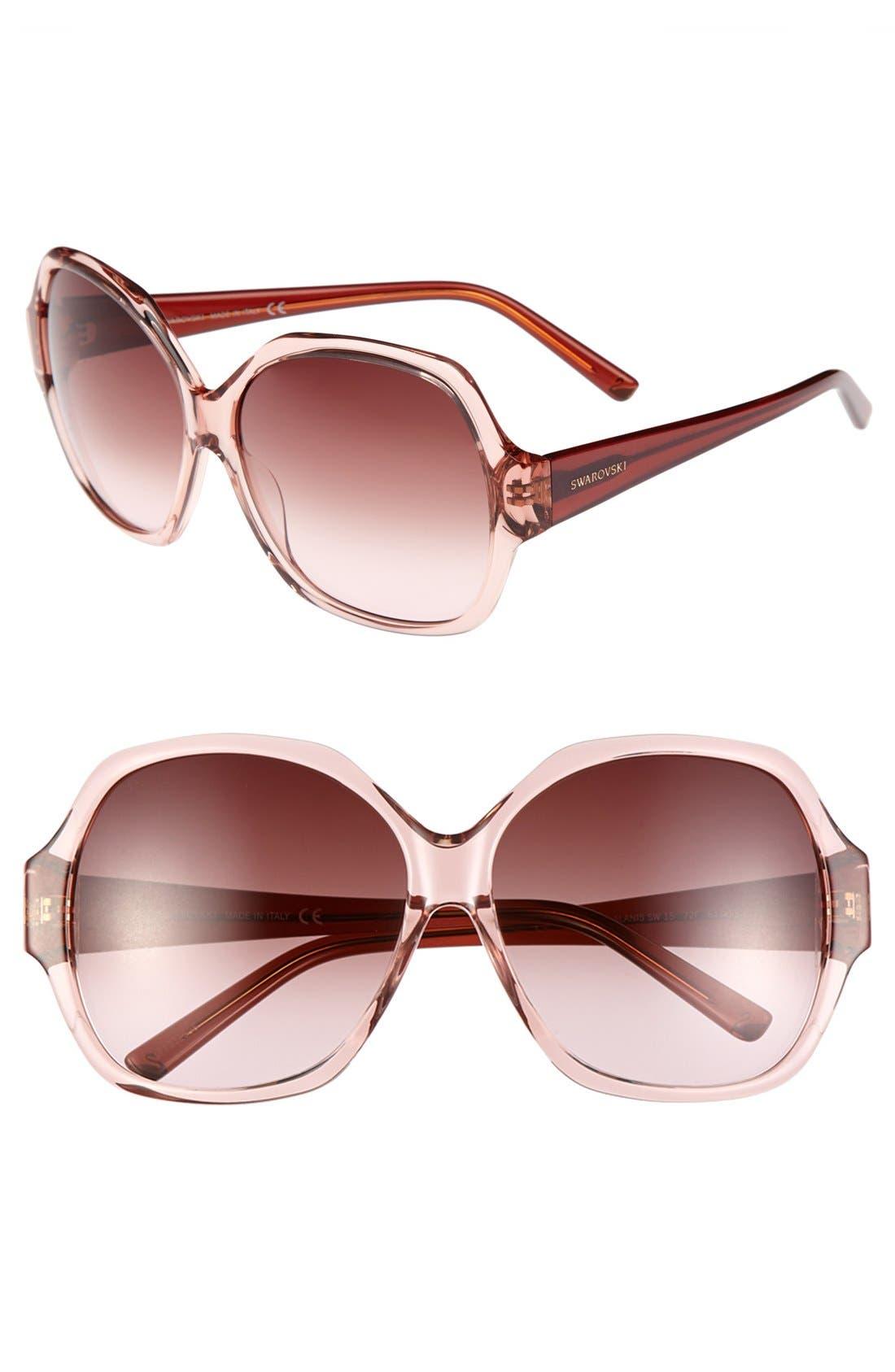 Alternate Image 1 Selected - Swarovski 61mm Oversized Sunglasses