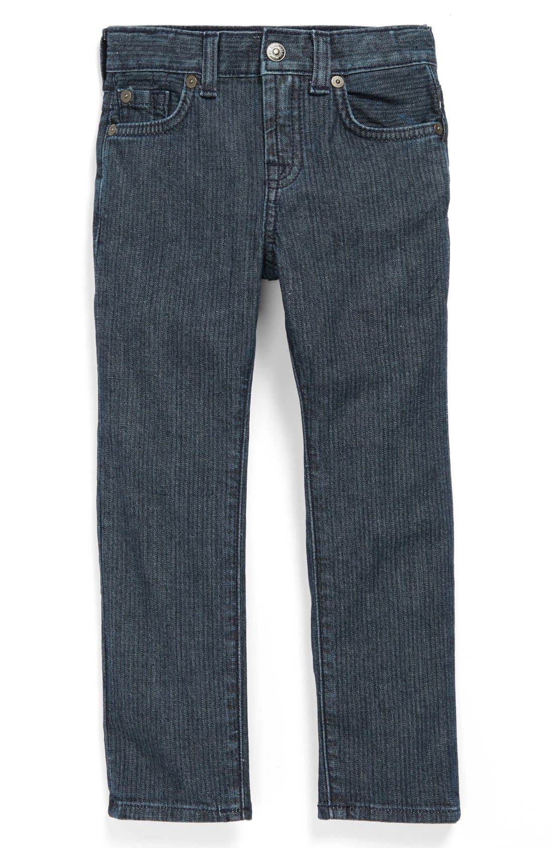 Alternate Image 2  - 7 For All Mankind® 'Slimmy' Herringbone Slim Fit Jeans (Toddler Boys)