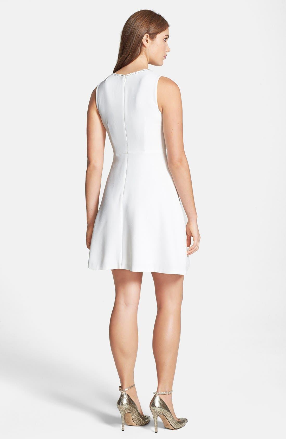 Alternate Image 2  - Trina Turk 'Aldine' Crepe Fit & Flare Dress