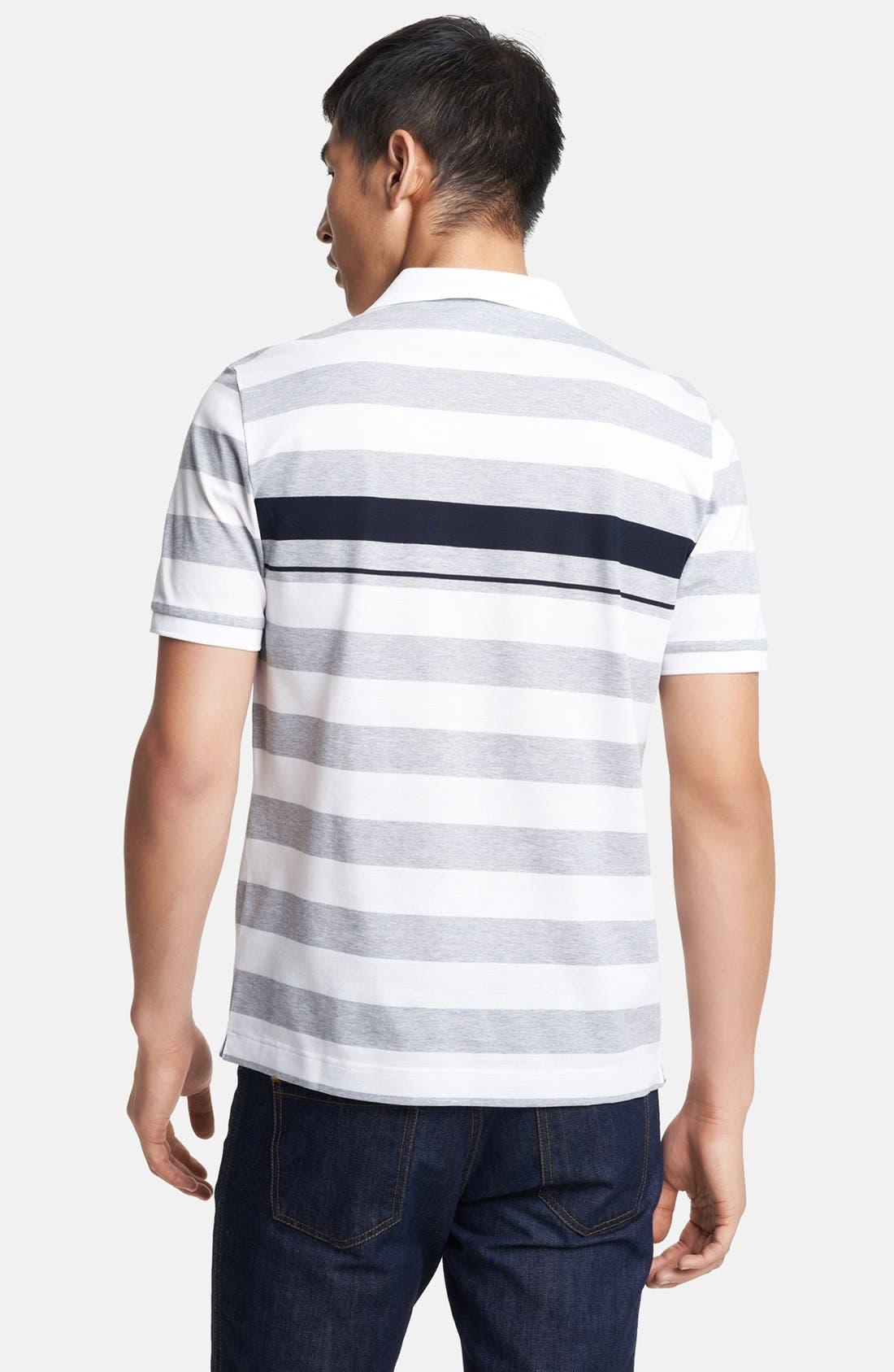 Alternate Image 2  - Salvatore Ferragamo Trim Fit Stripe Polo