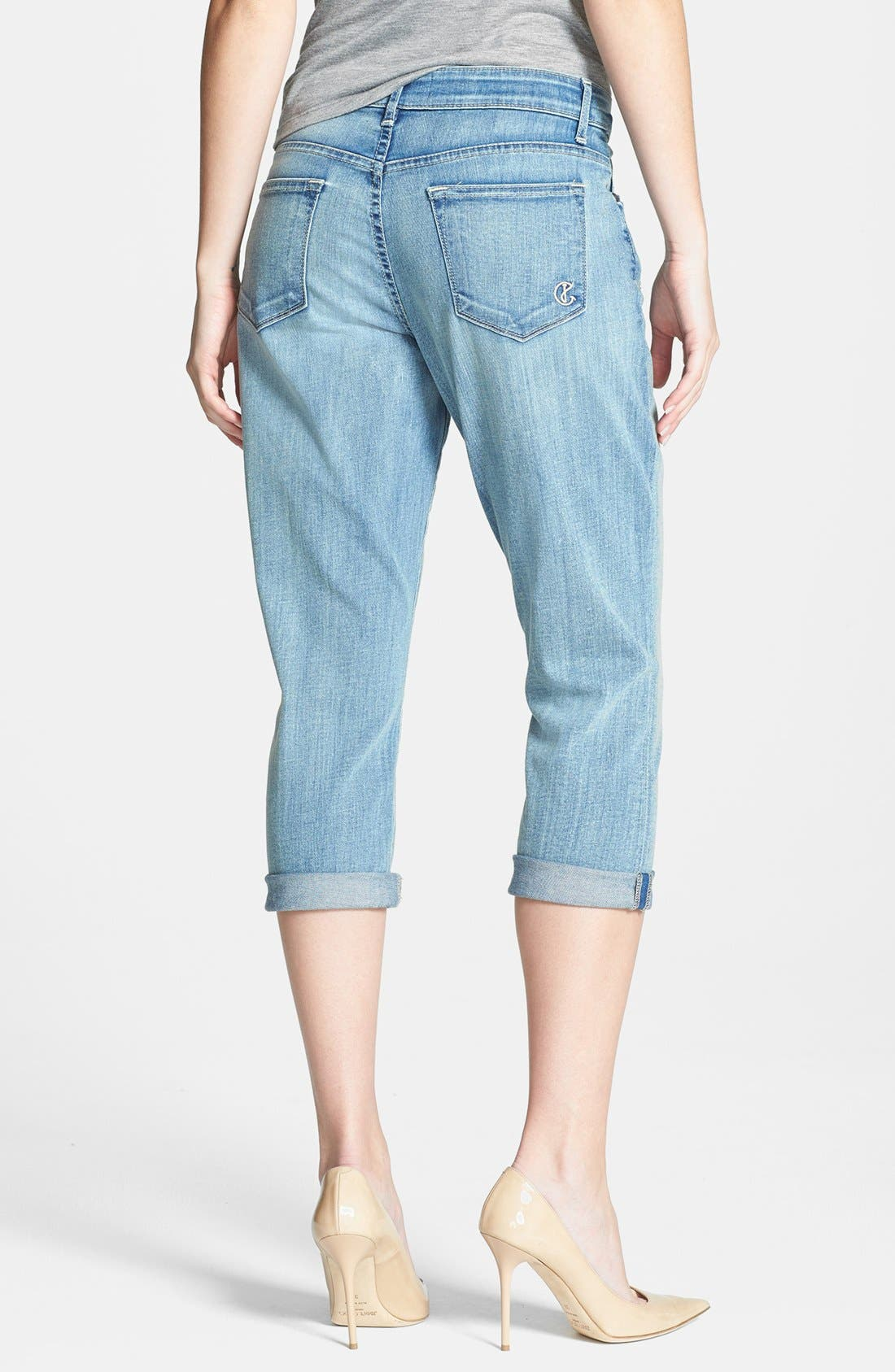 Alternate Image 2  - CJ by Cookie Johnson 'Rejoice' Stretch Crop Boyfriend Jeans (Simpson)