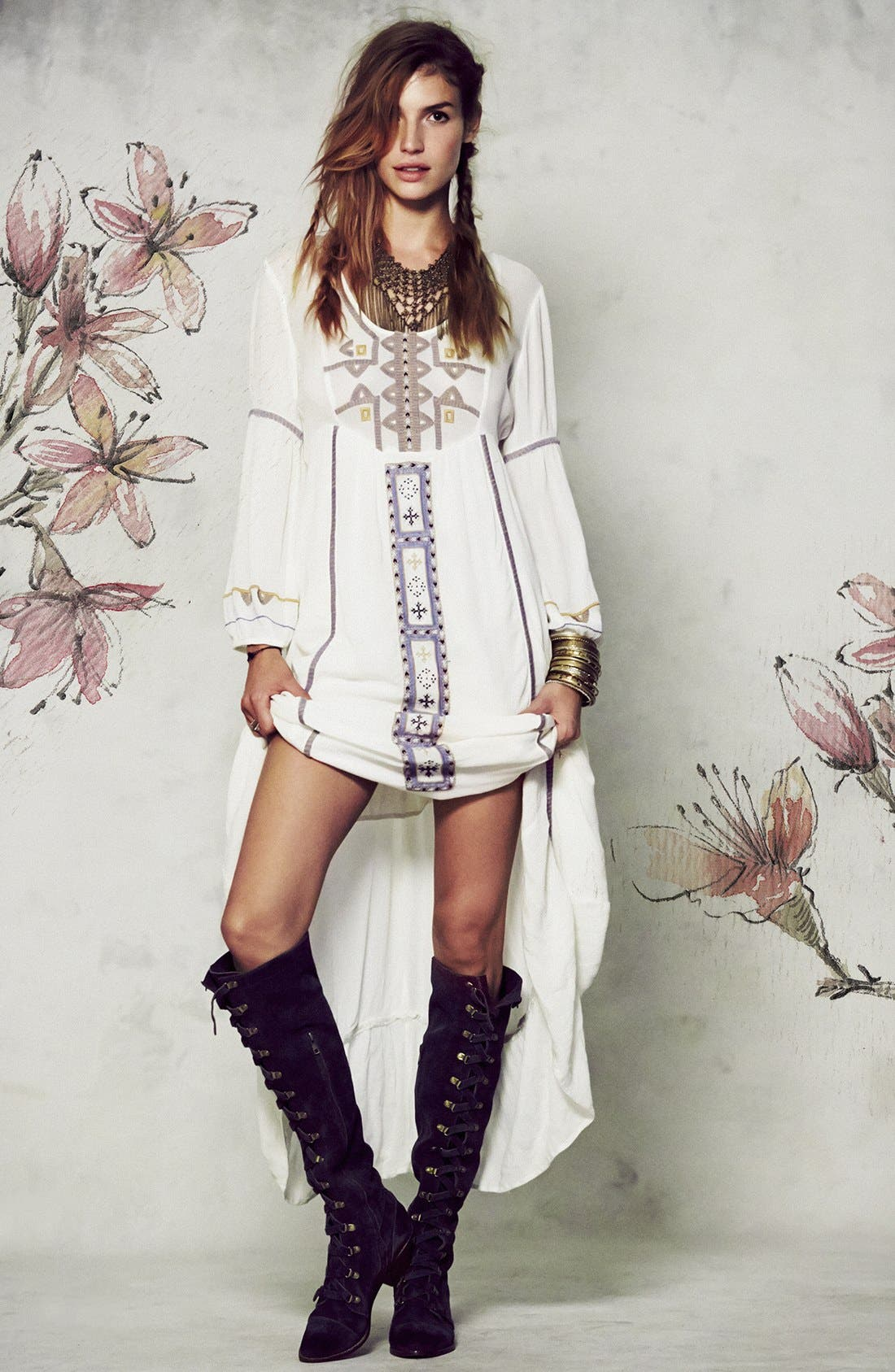Alternate Image 4  - Free People 'Desert Winds' Embroidered Maxi Dress