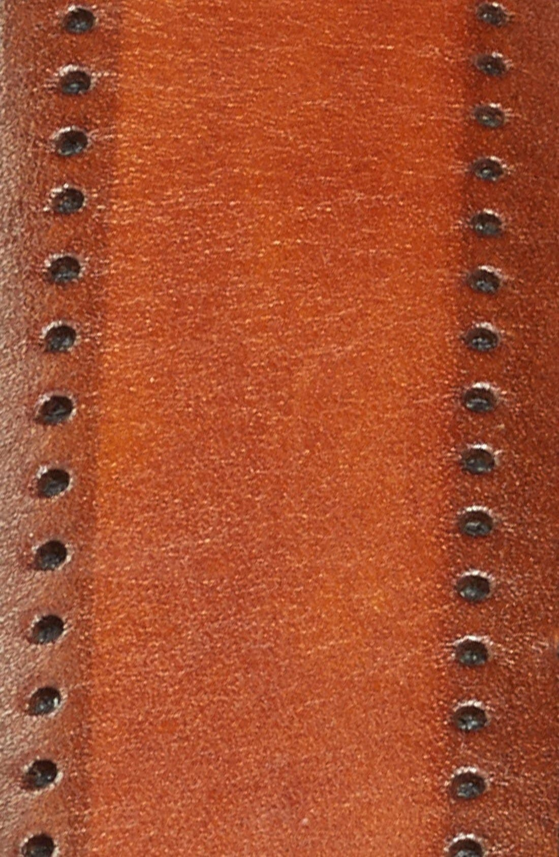 Alternate Image 2  - Canali Leather Belt
