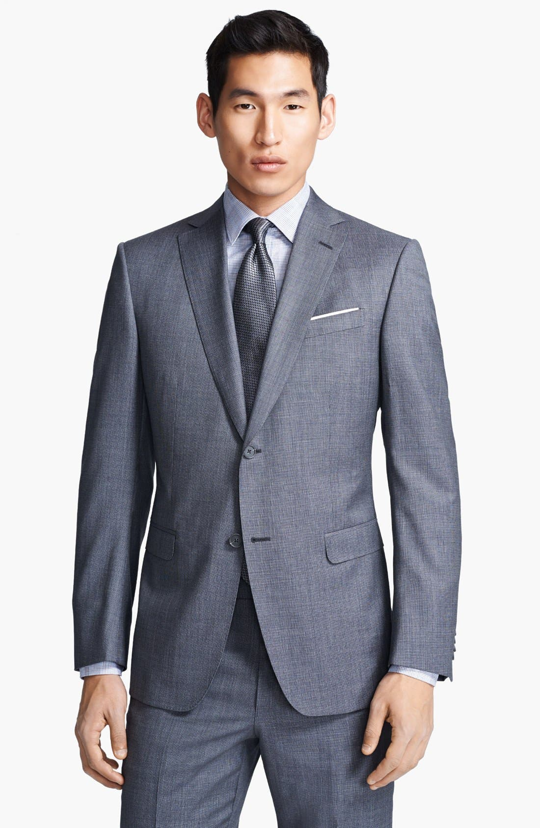 Alternate Image 3  - Z Zegna Trim Fit Grey Textured Wool Suit
