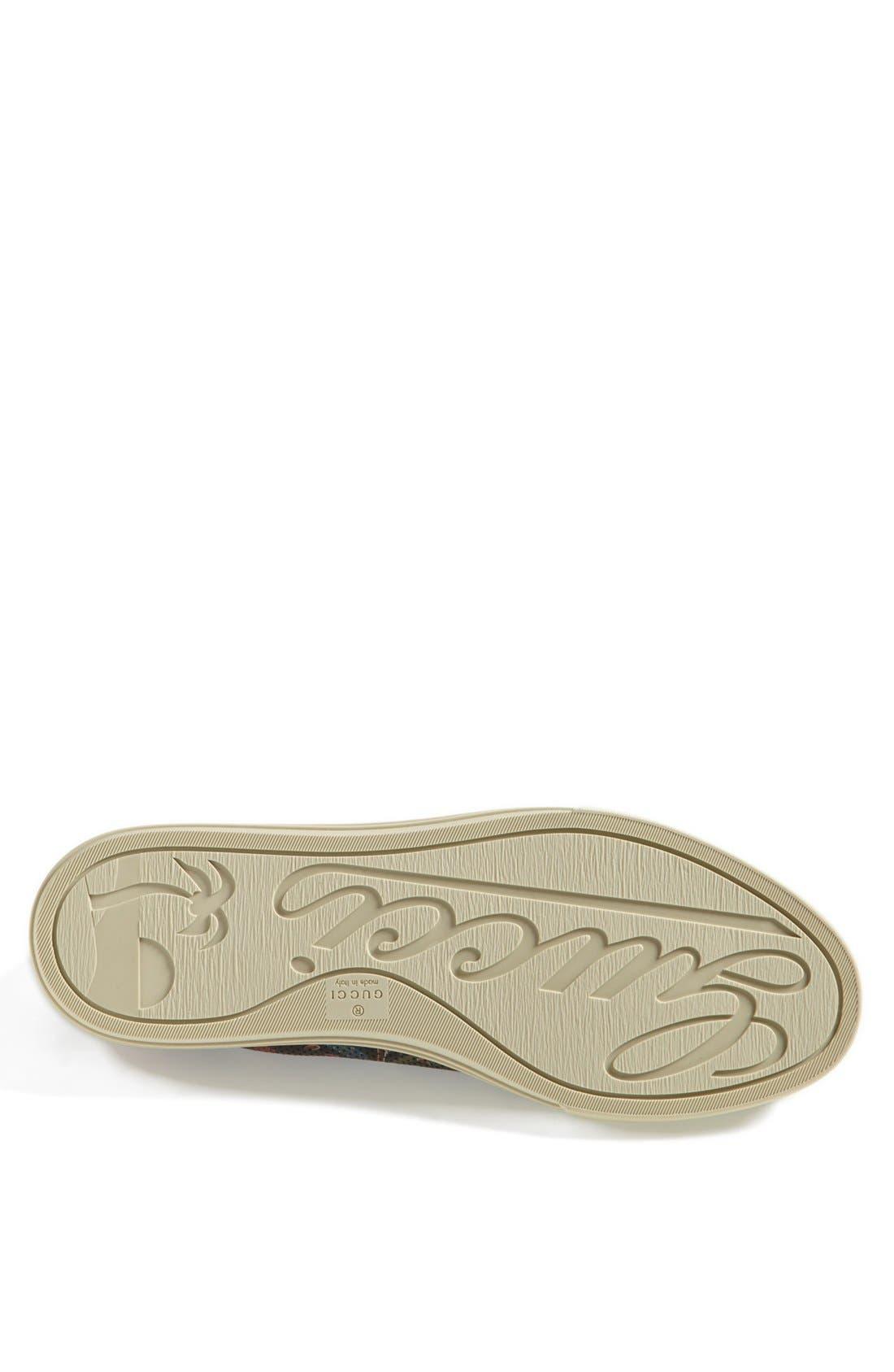 Alternate Image 4  - Gucci 'Jimy' Print Low Sneaker