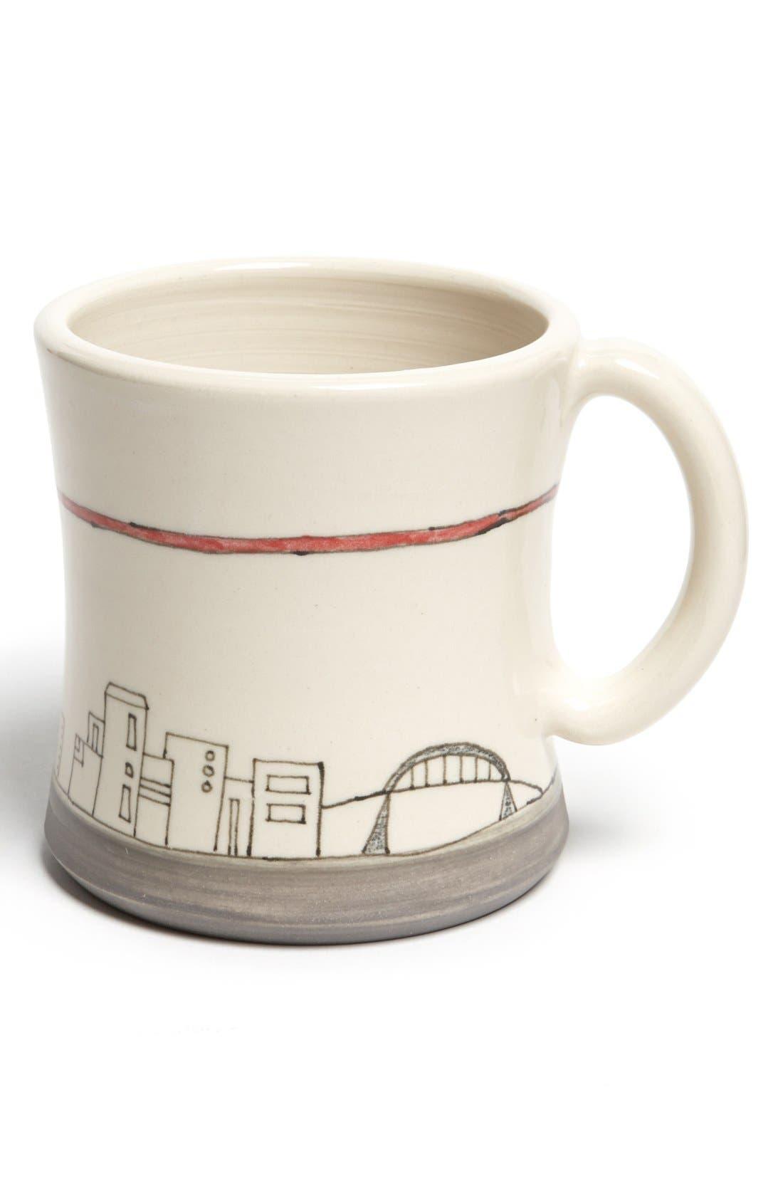 Alternate Image 1 Selected - Downing Pottery Columbus Cityscape Mug