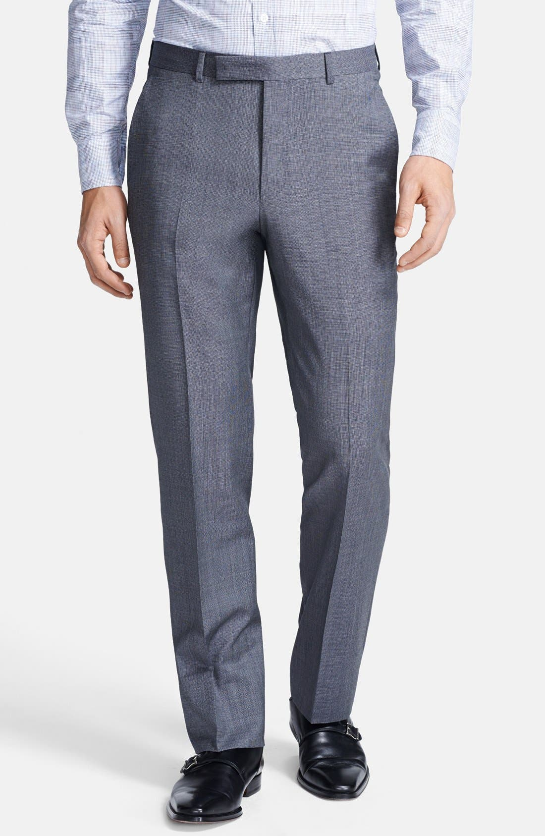 Alternate Image 4  - Z Zegna Trim Fit Grey Textured Wool Suit