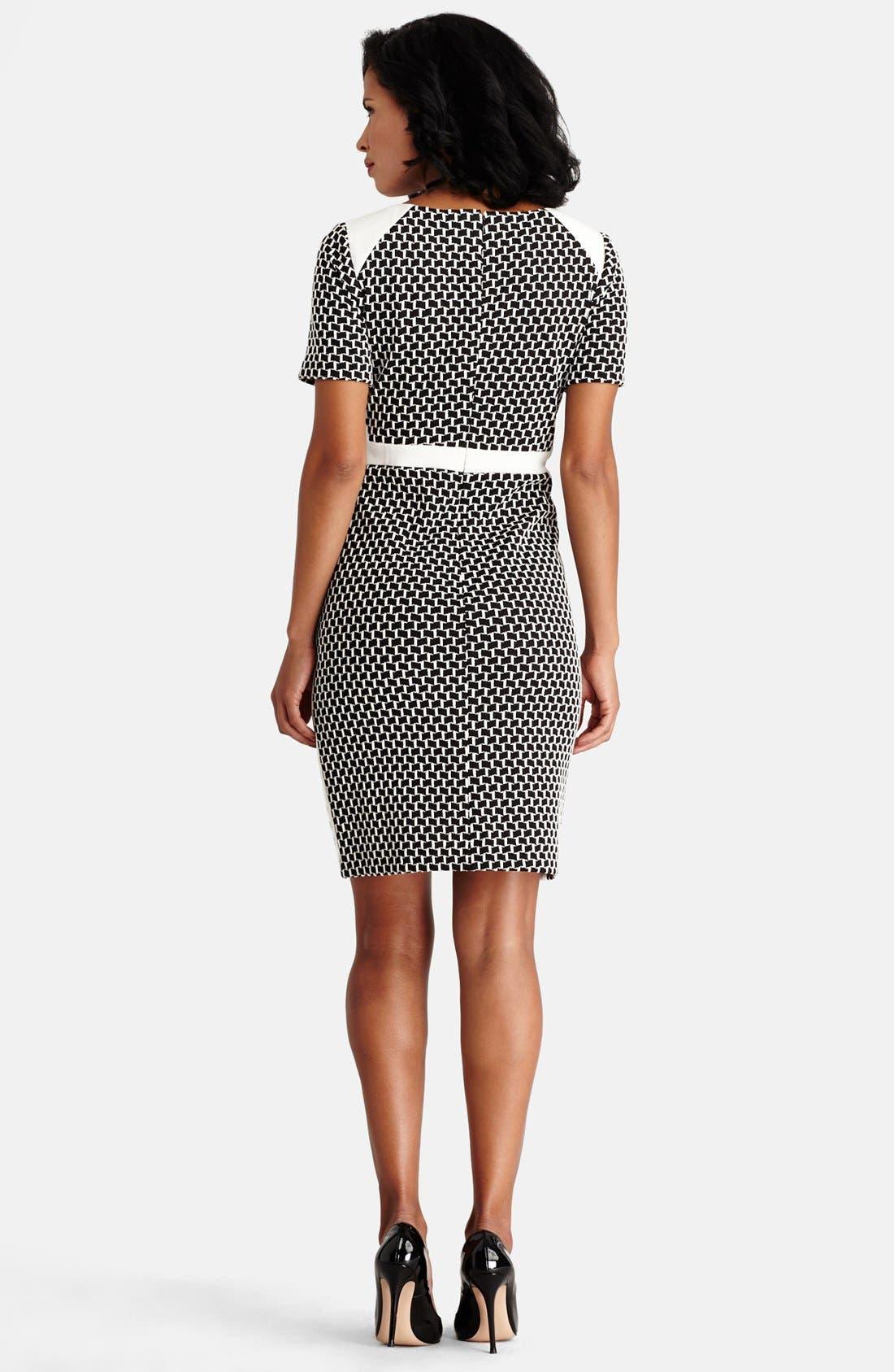 Alternate Image 3  - Donna Morgan Novelty Knit Sheath Dress (Regular & Petite)