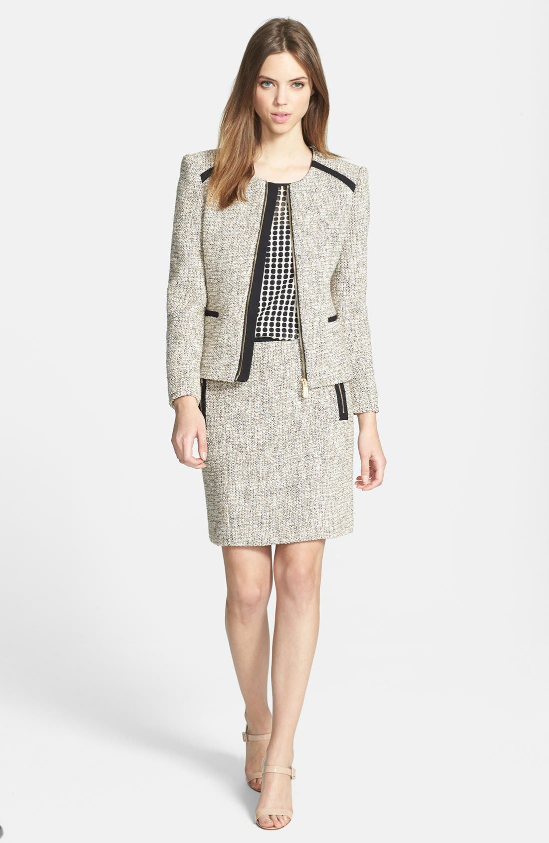 Alternate Image 4  - Vince Camuto Zip Pocket Tweed Miniskirt