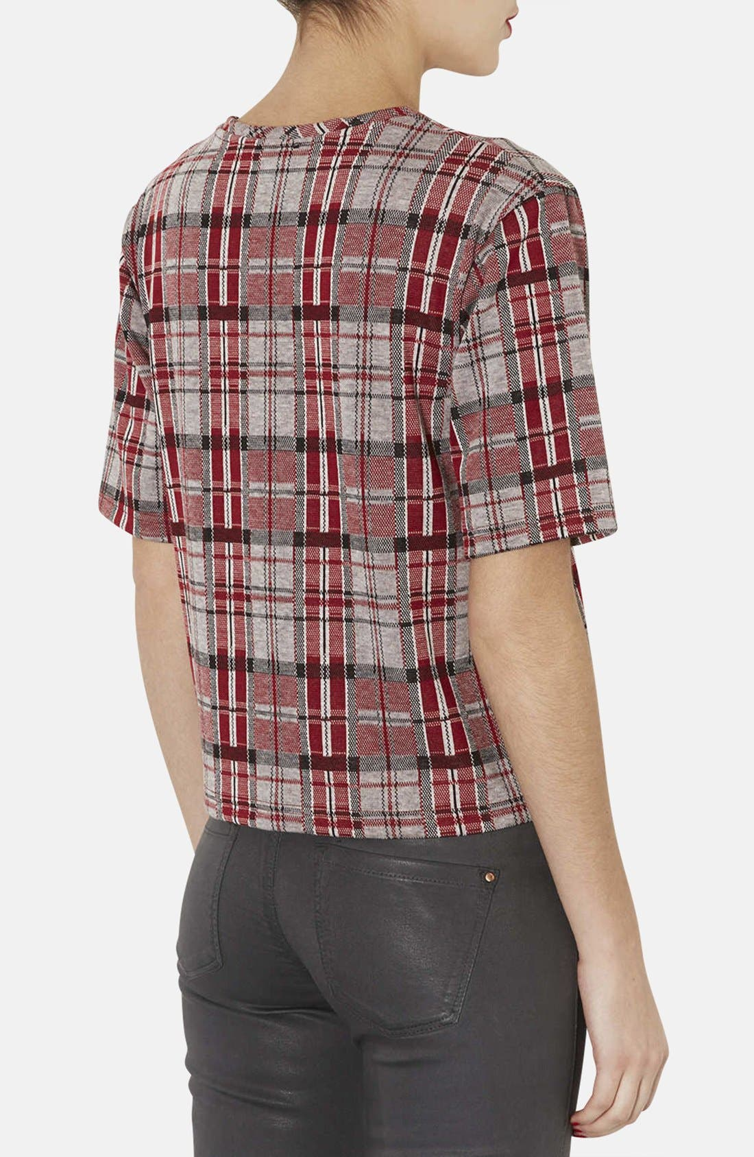 Alternate Image 2  - Topshop Checkered Jacquard Tee