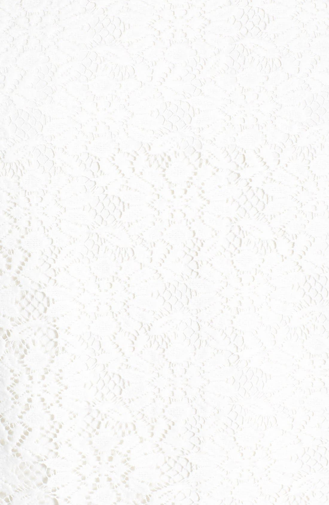 Alternate Image 3  - Topshop Raglan Sleeve Lace Tee
