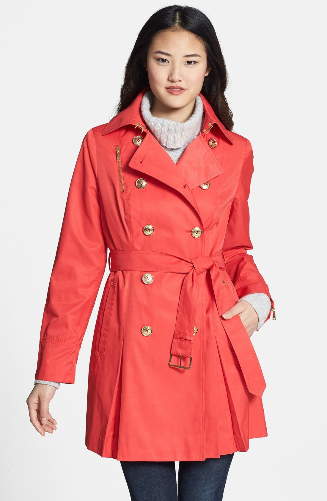 Alternate Image 1 Selected - MICHAEL Michael Kors Double Breasted Trench Coat