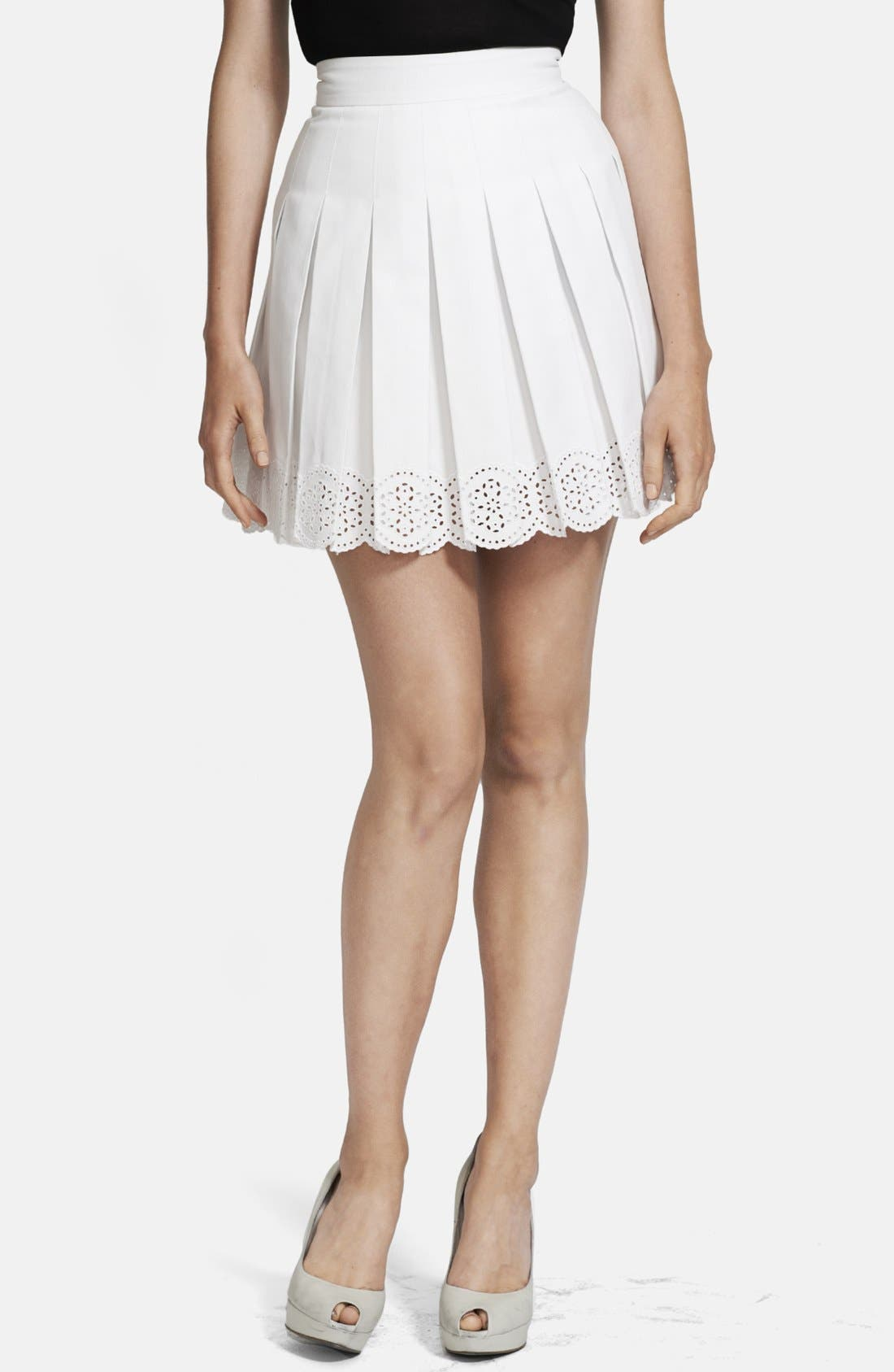 Alternate Image 1 Selected - Alexander McQueen Pleated Scallop Hem Skirt