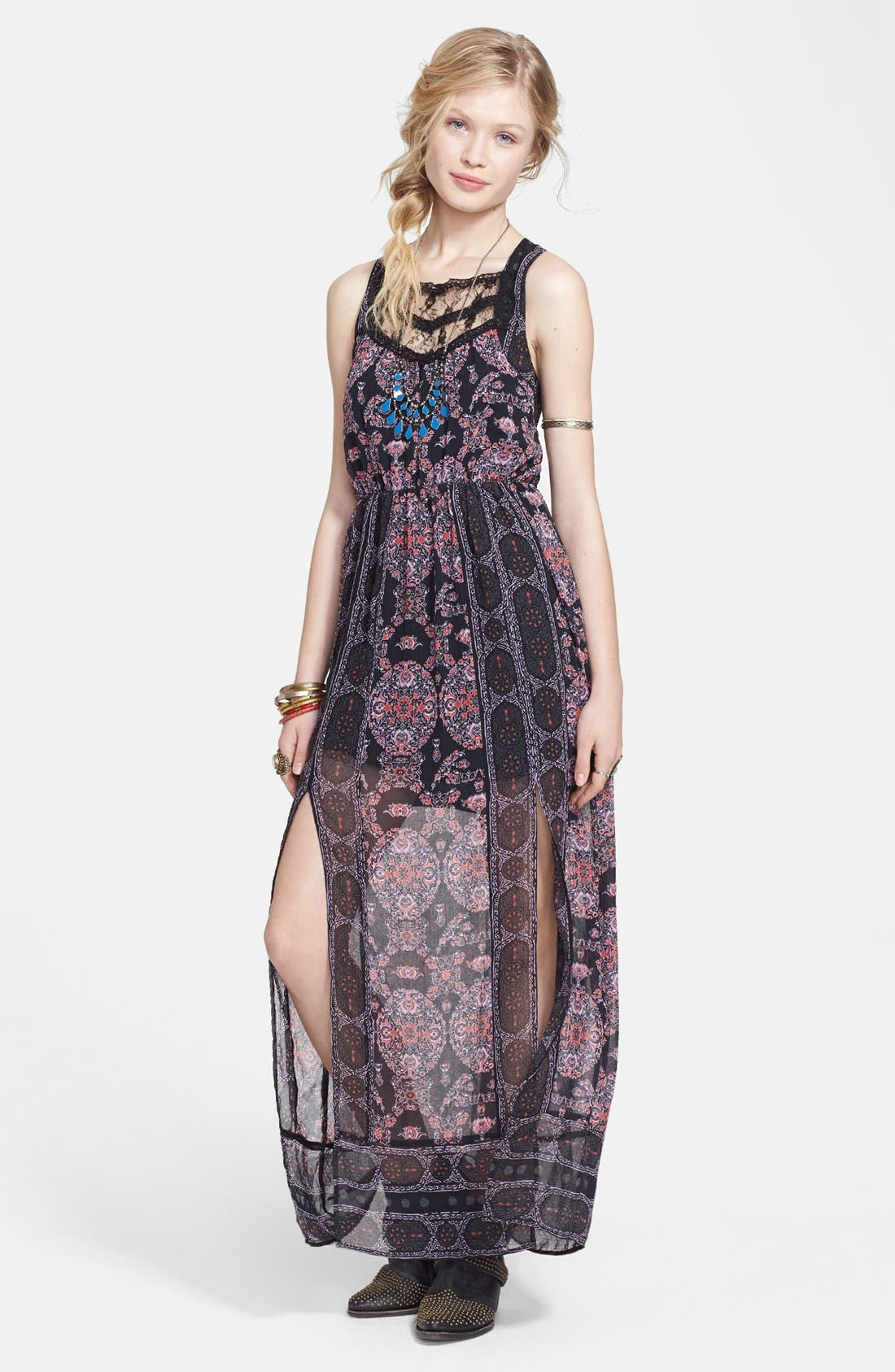 Alternate Image 1 Selected - Free People Print Chiffon Maxi Dress