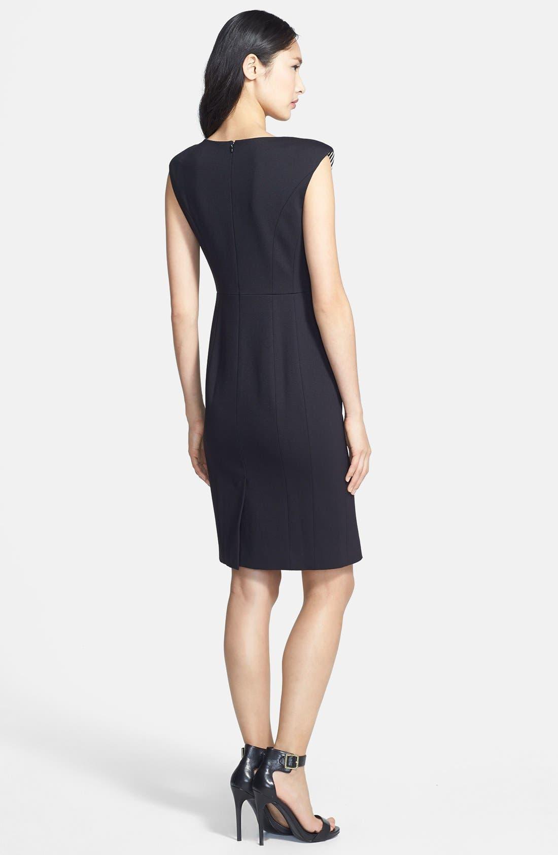 Alternate Image 2  - Classiques Entier® 'Linear' Stripe Panel Ponte Dress