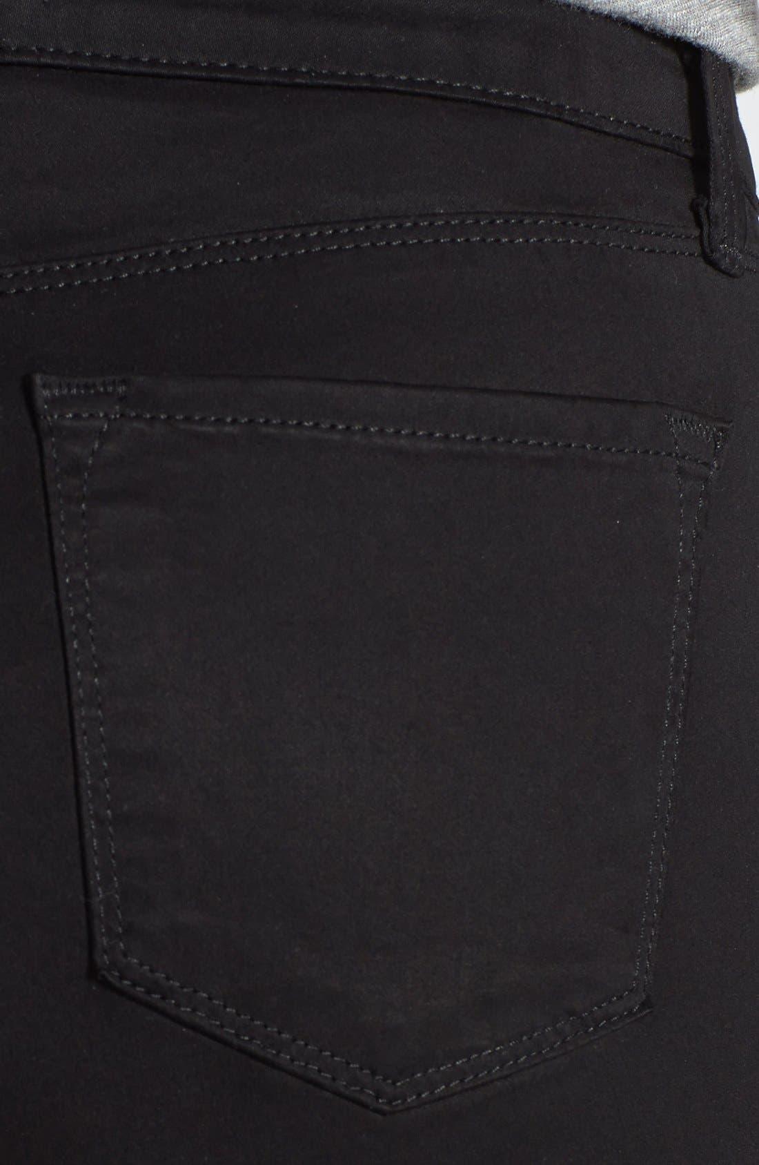 Alternate Image 3  - J Brand 'Rails' Straight Leg Jeans (Black Luxe Sateen)