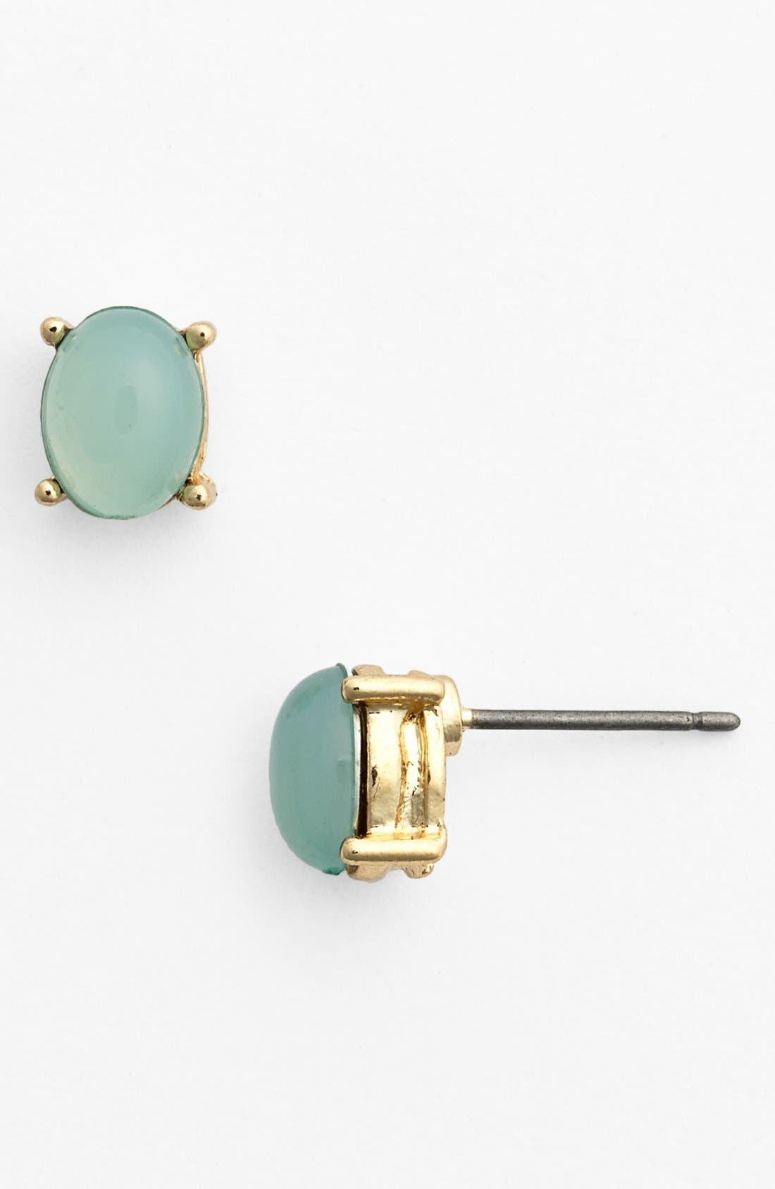 Main Image - Carole Oval Stone Stud Earrings (Juniors)
