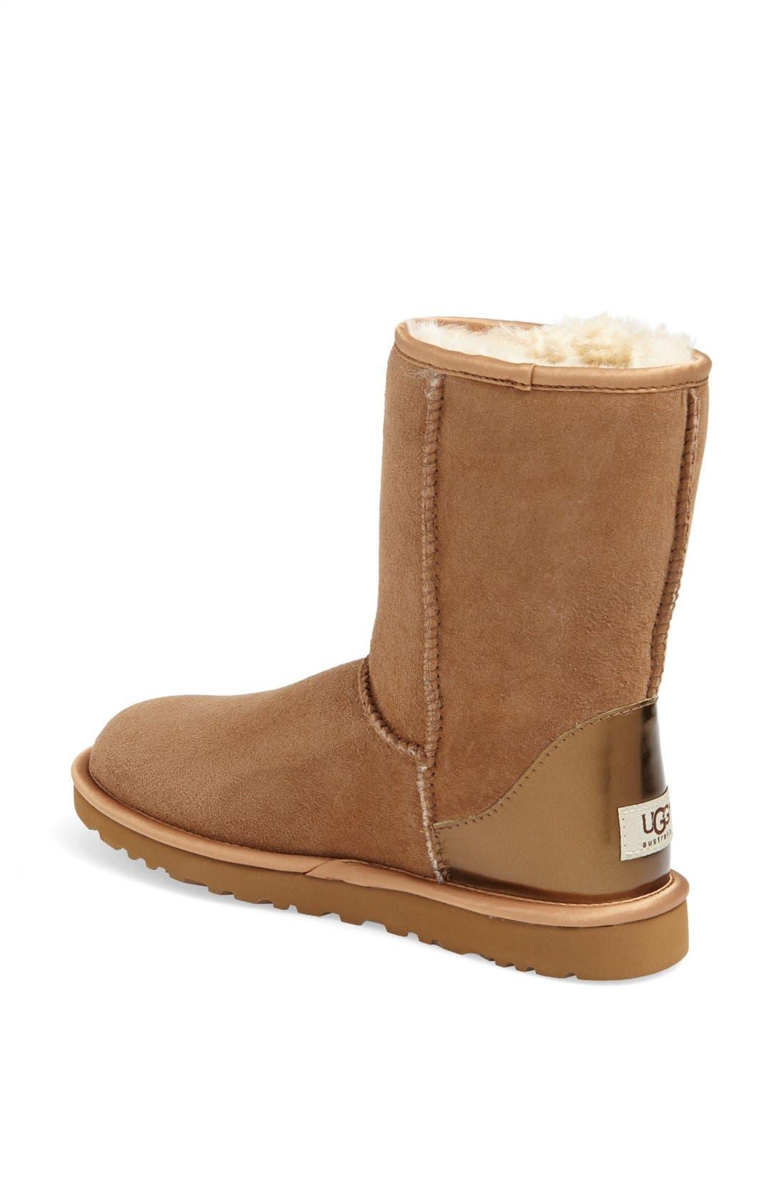 Alternate Image 2  - UGG® Australia 'Classic Short' Metallic Patent Boot (Women)