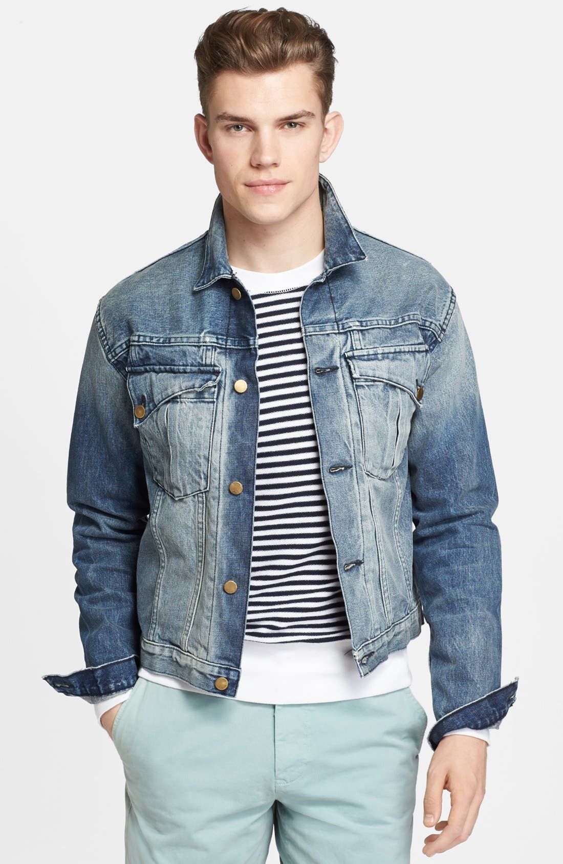 Main Image - Billy Reid 'Downing' Denim Jacket