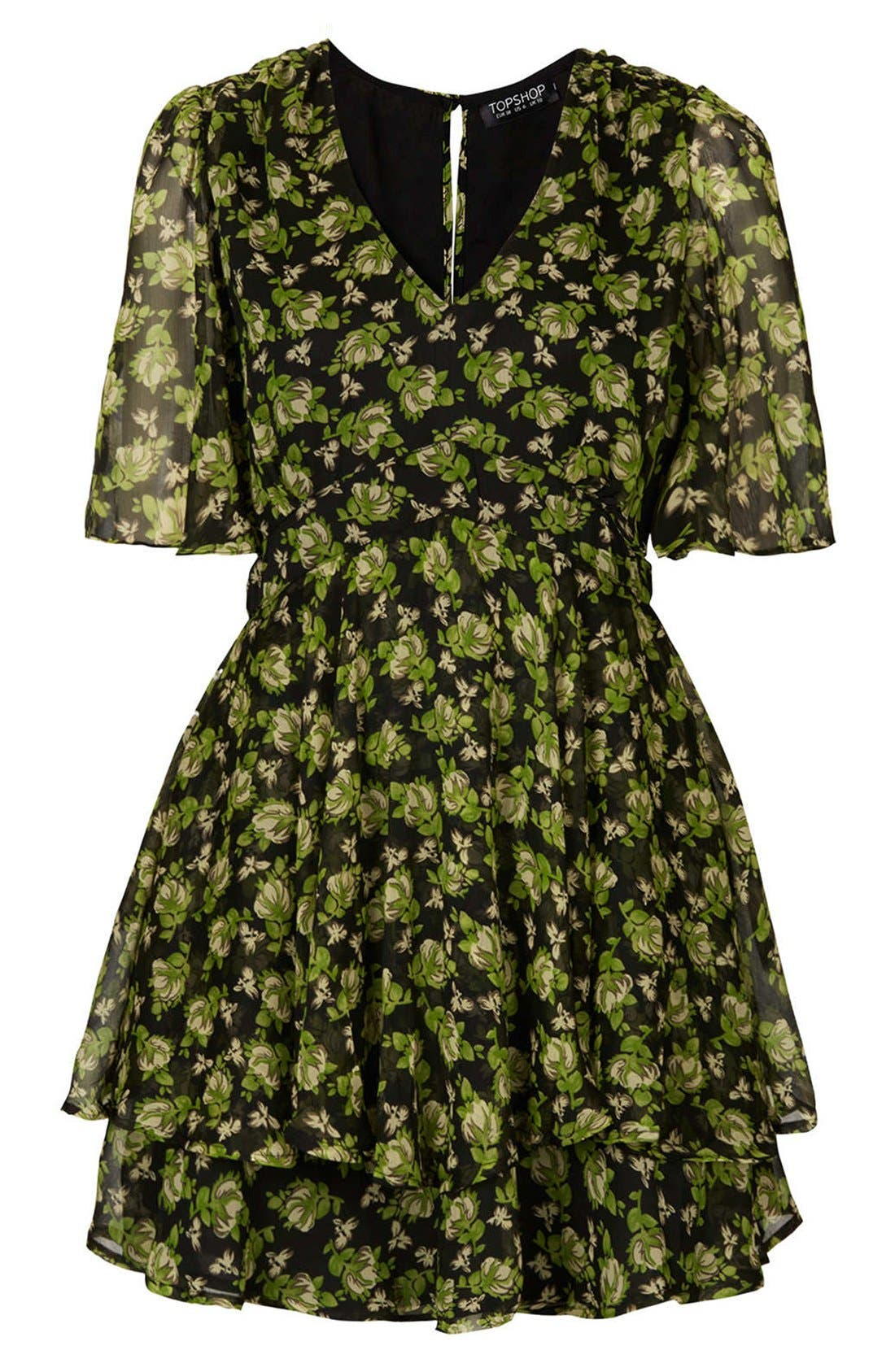 Alternate Image 3  - Topshop 'Floral Bunches' Tiered Chiffon Dress