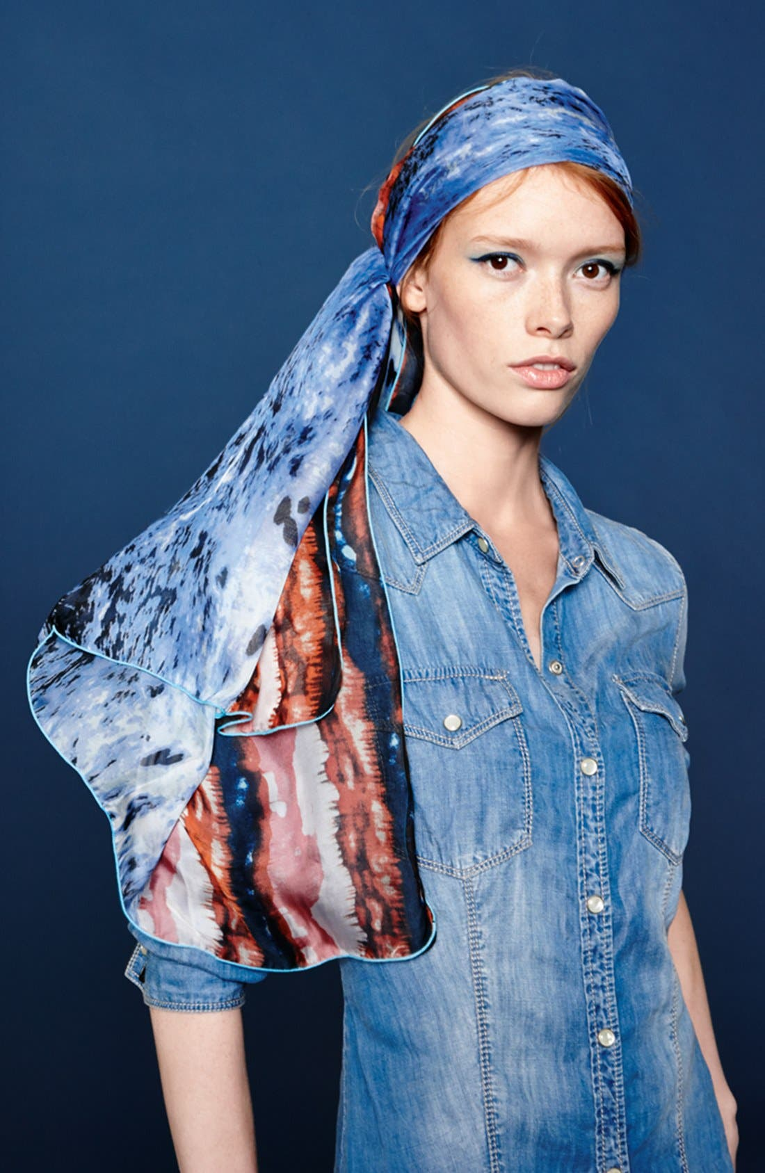 Alternate Image 4  - Roffe Accessories Watercolor Scarf