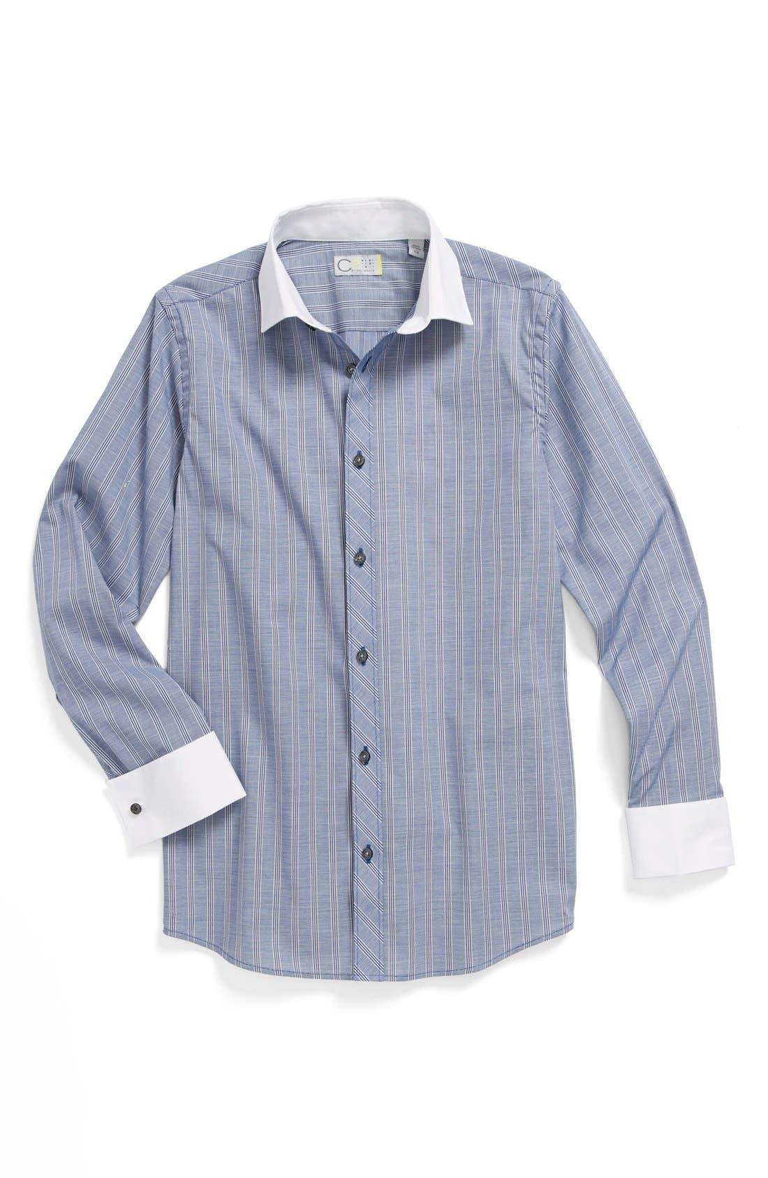 Alternate Image 1 Selected - C2 by Calibrate Stripe Dress Shirt (Big Boys)