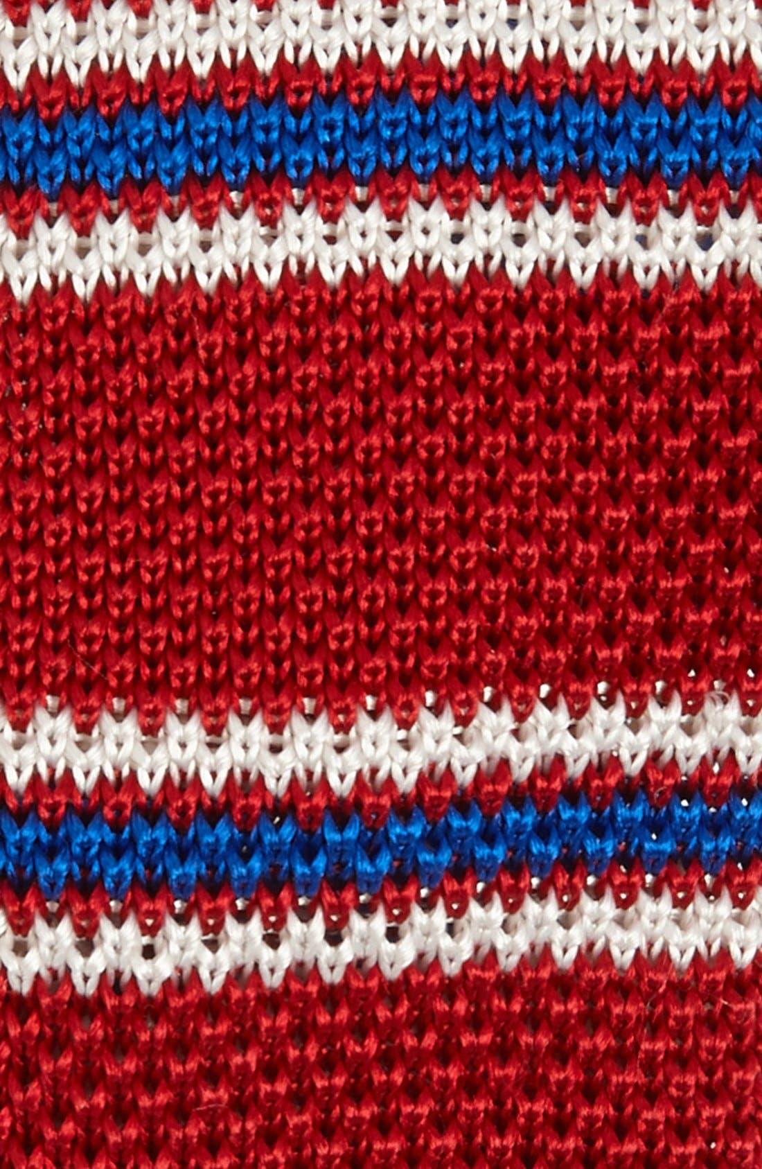 Alternate Image 2  - EDIT by The Tie Bar Stripe Knit Silk Tie (Nordstrom Exclusive)