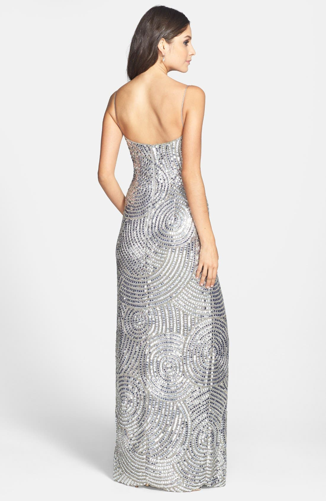 Alternate Image 2  - Sean Collection Beaded Silk Georgette Column Dress