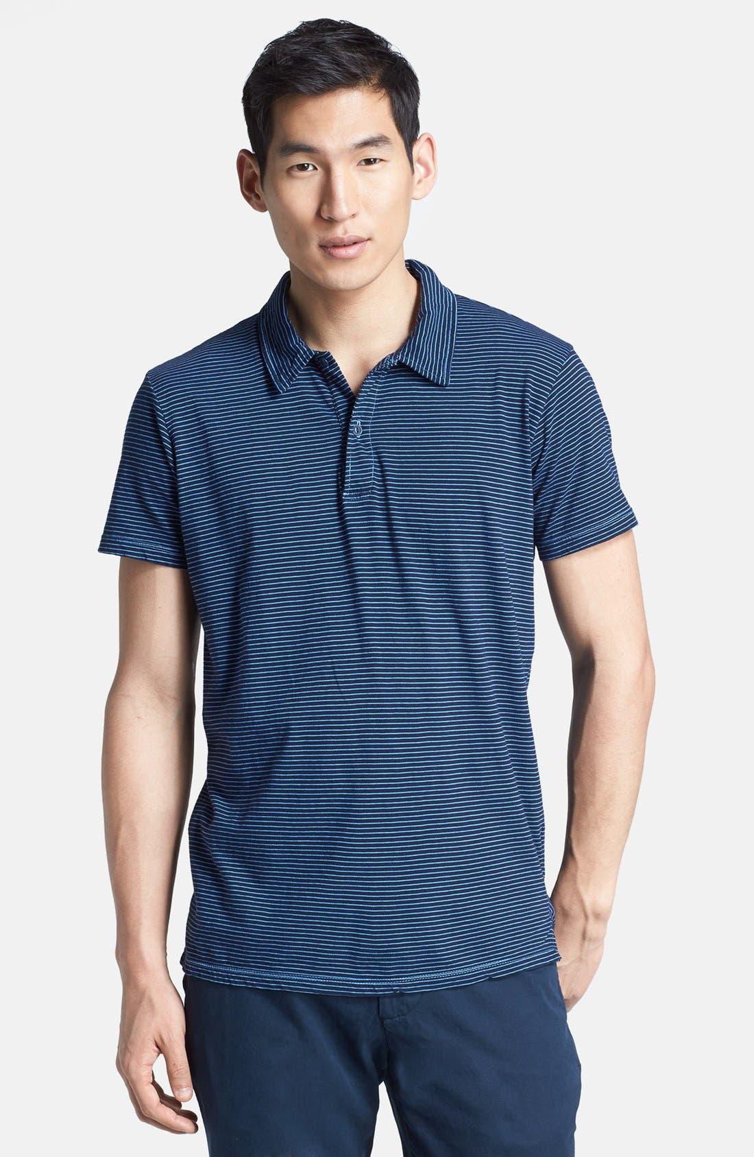 Main Image - Save Khaki Stripe Jersey Polo