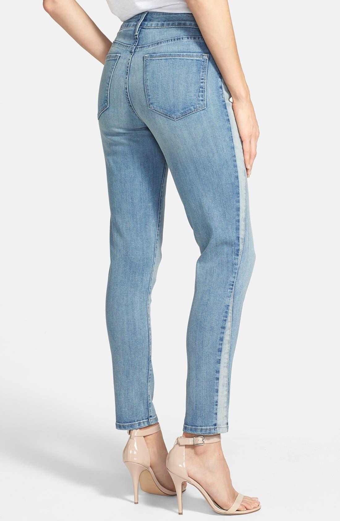 Alternate Image 2  - NYDJ 'Annalynn' Side Inset Stretch Skinny Jeans (Stockton) (Regular & Petite)