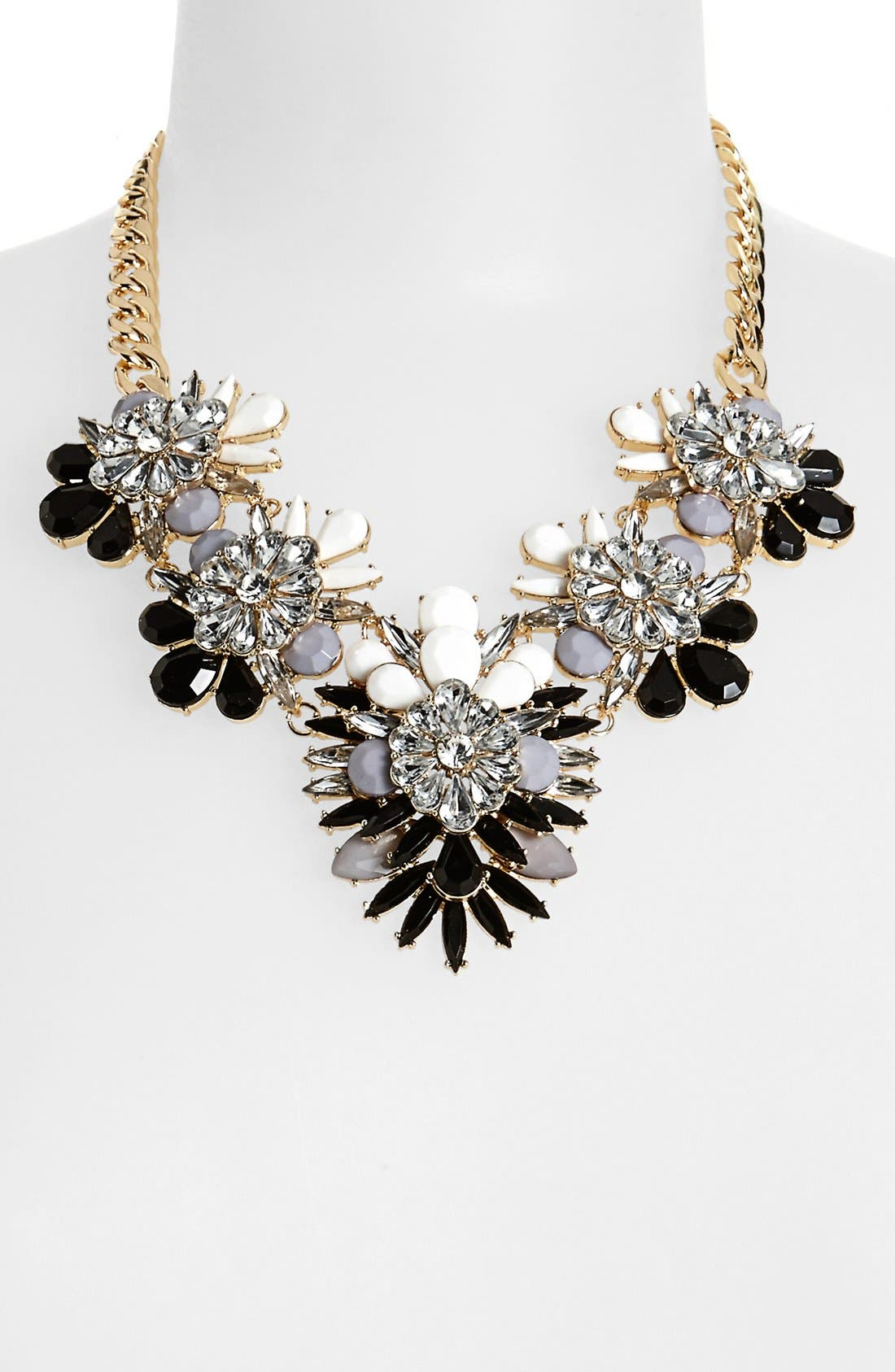Alternate Image 1 Selected - Cara Stone & Crystal Bib Necklace