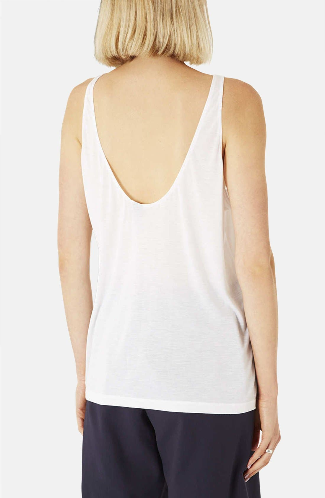 Alternate Image 2  - Topshop Boutique Relaxed Modal & Cashmere Tank